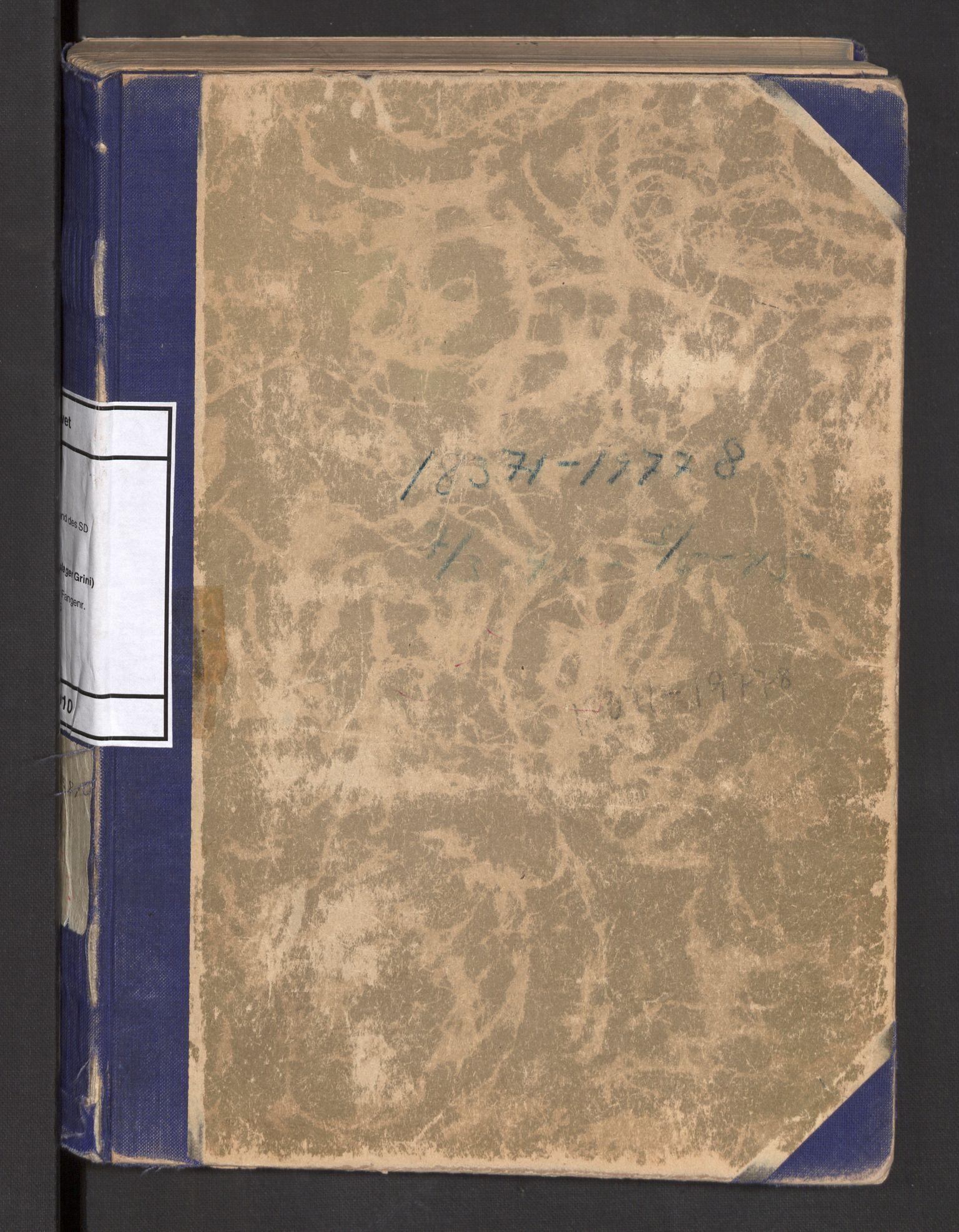 RA, Befehlshaber der Sicherheitspolizei und des SD, F/Fa/Faa/L0010: Fangeprotokoll. - Gefangenen-Buch B.  Fangenr. 18371-19778, 1945
