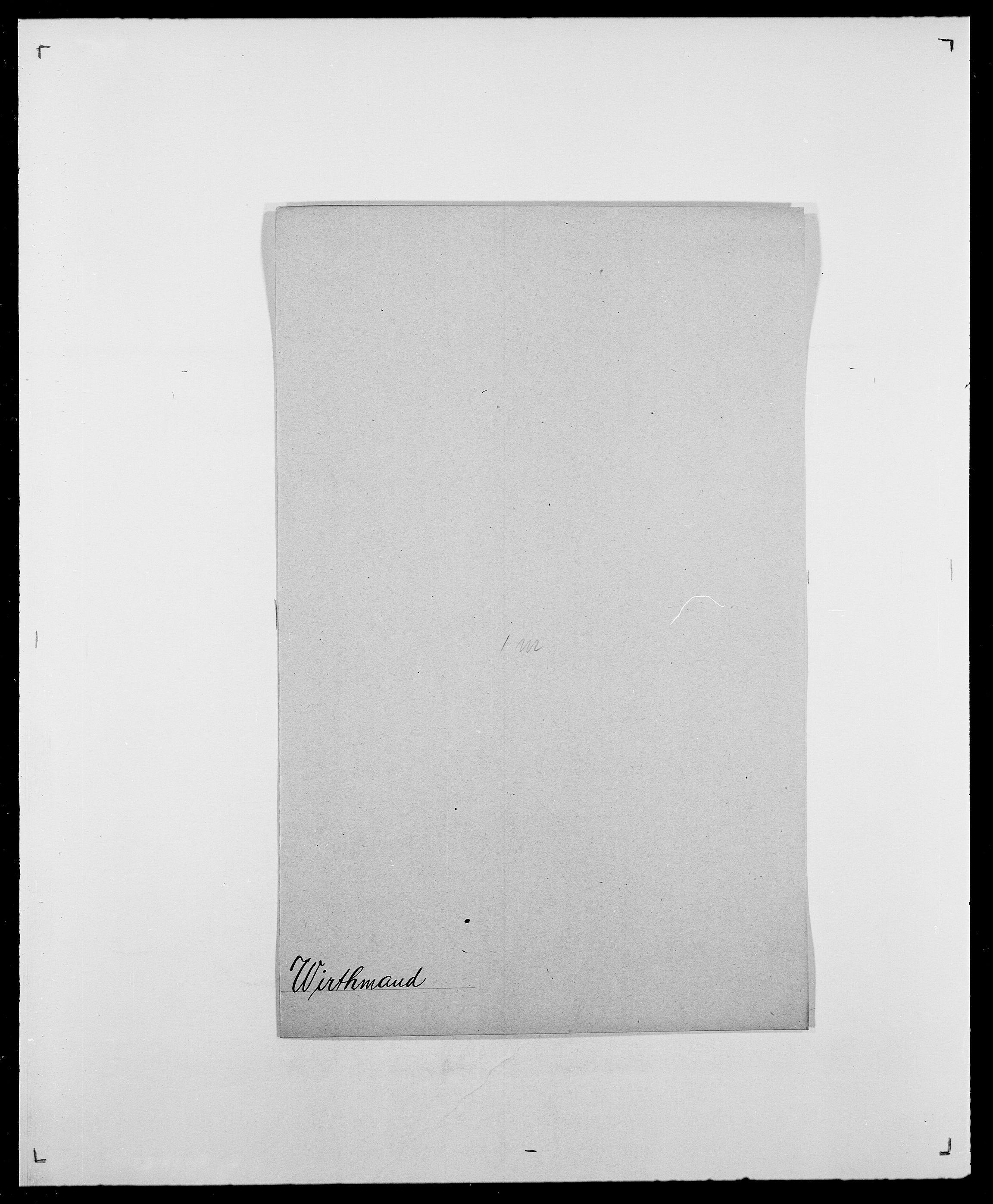 SAO, Delgobe, Charles Antoine - samling, D/Da/L0042: Vilain - Wulf, Wulff, se også Wolf, s. 378