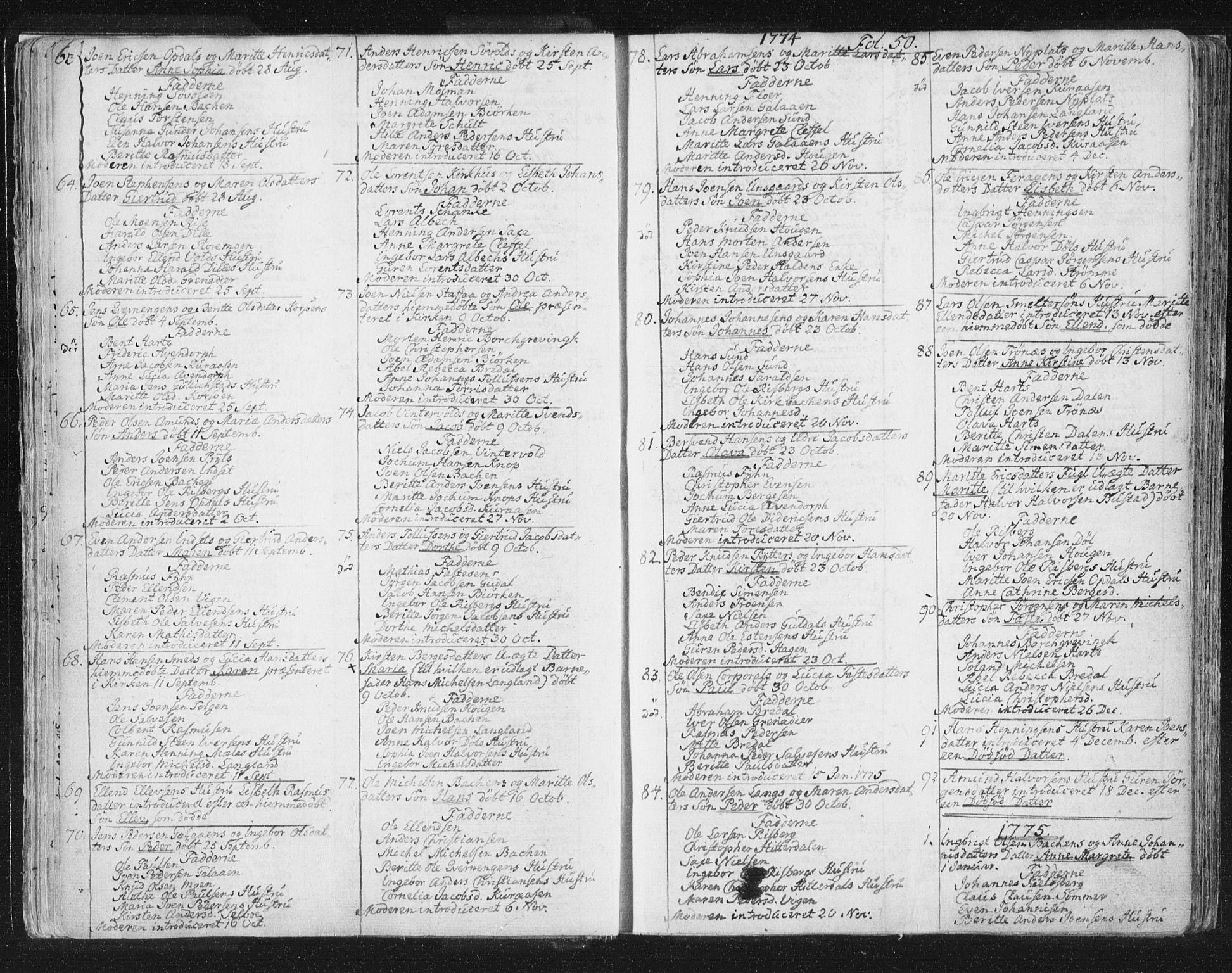 SAT, Ministerialprotokoller, klokkerbøker og fødselsregistre - Sør-Trøndelag, 681/L0926: Ministerialbok nr. 681A04, 1767-1797, s. 50