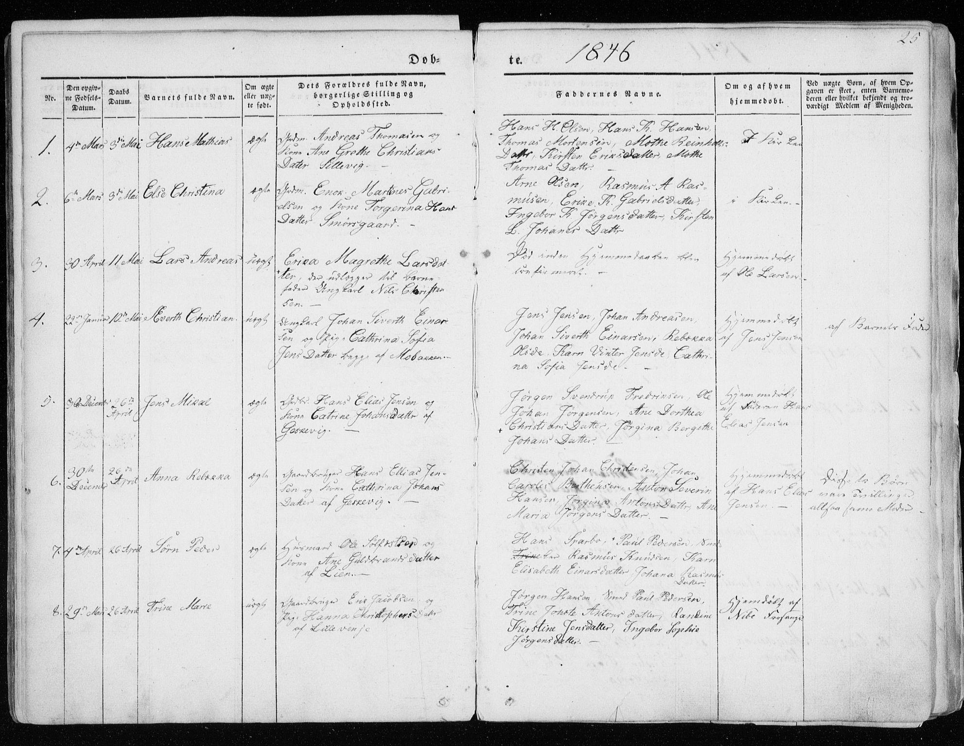 SATØ, Tranøy sokneprestkontor, I/Ia/Iaa/L0006kirke: Ministerialbok nr. 6, 1844-1855, s. 25