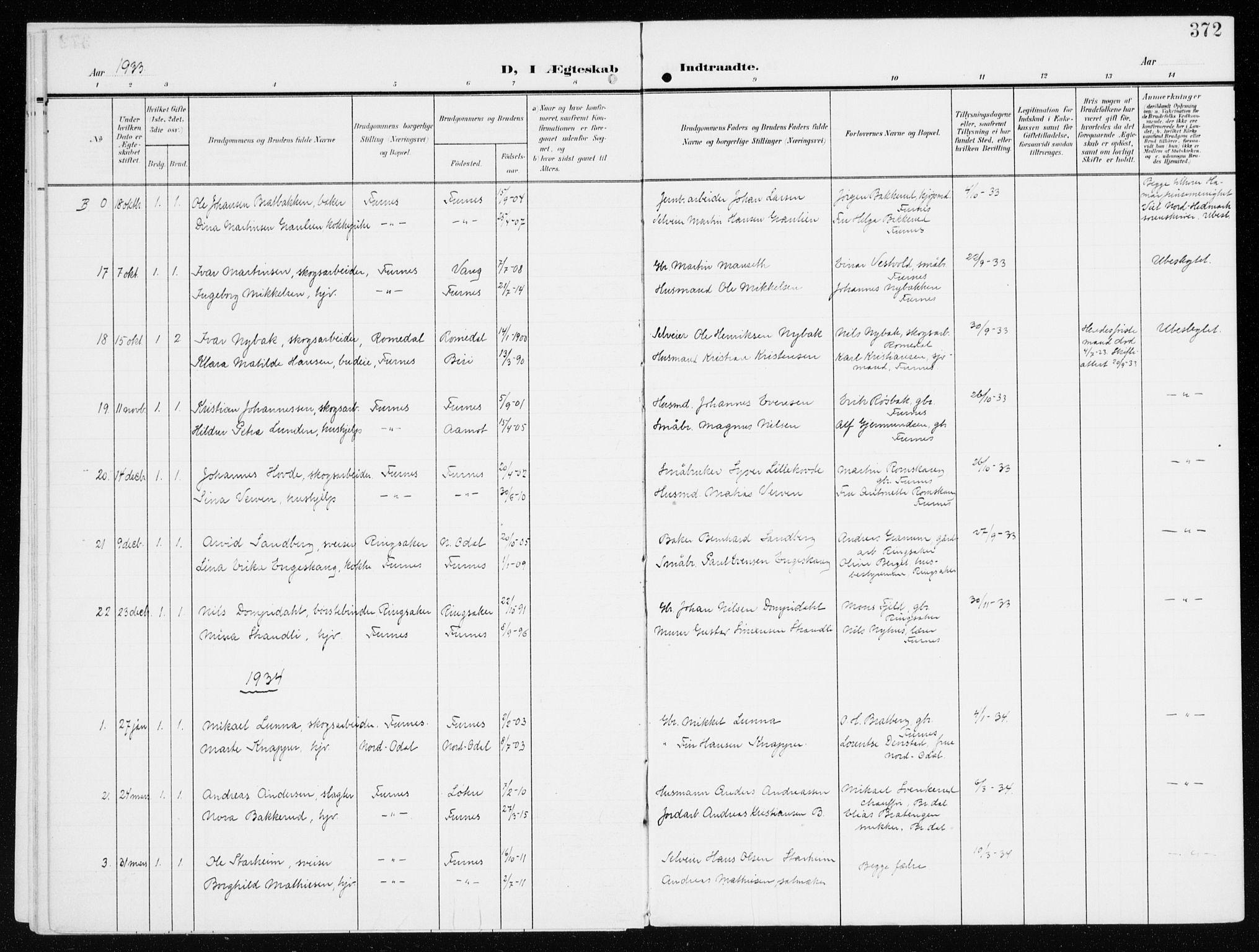 SAH, Furnes prestekontor, K/Ka/L0001: Ministerialbok nr. 1, 1907-1935, s. 372