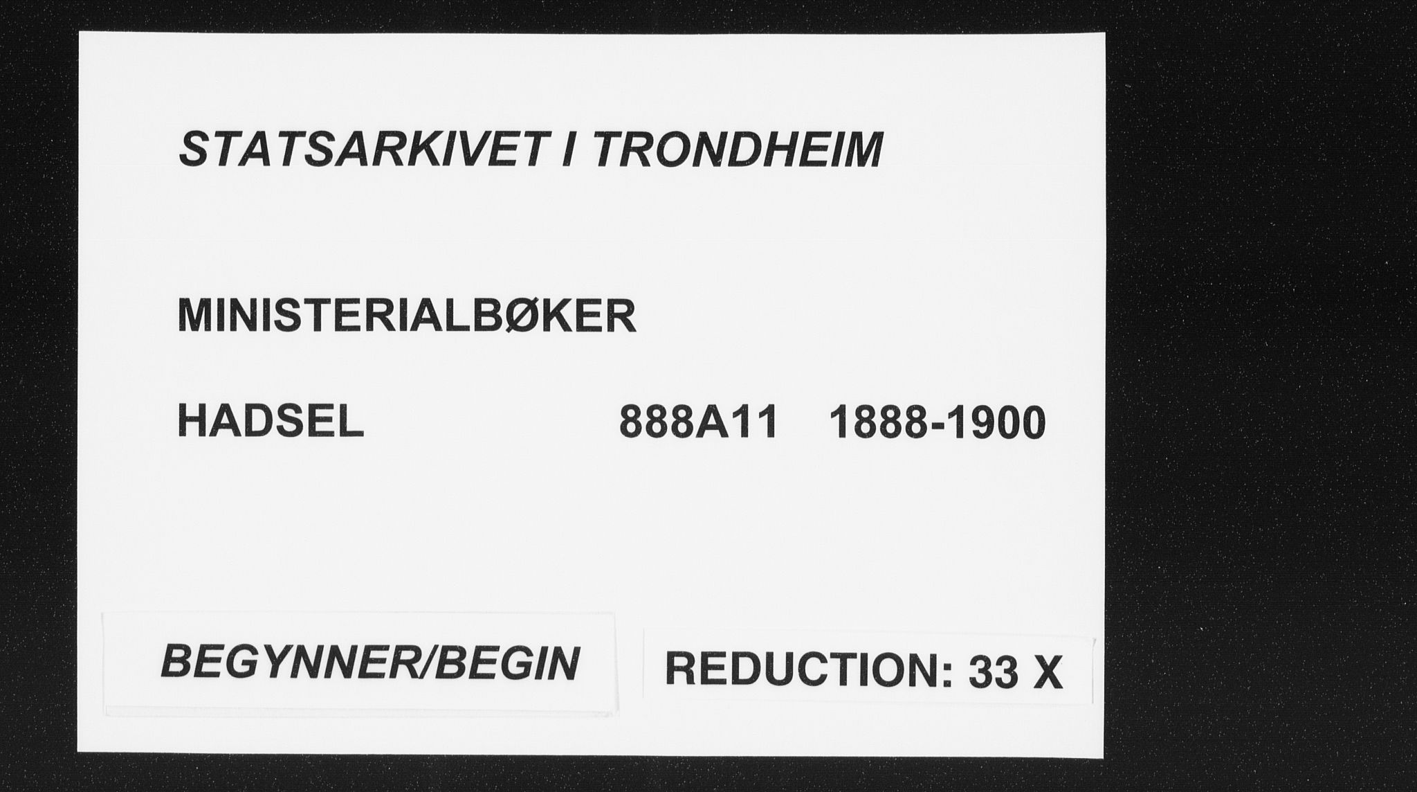 SAT, Ministerialprotokoller, klokkerbøker og fødselsregistre - Nordland, 888/L1245: Ministerialbok nr. 888A11, 1888-1900