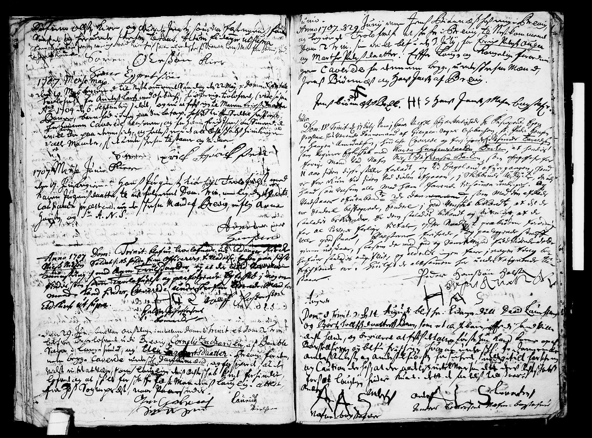 SAKO, Eidanger kirkebøker, F/Fa/L0001: Ministerialbok nr. 1, 1695-1717, s. 26