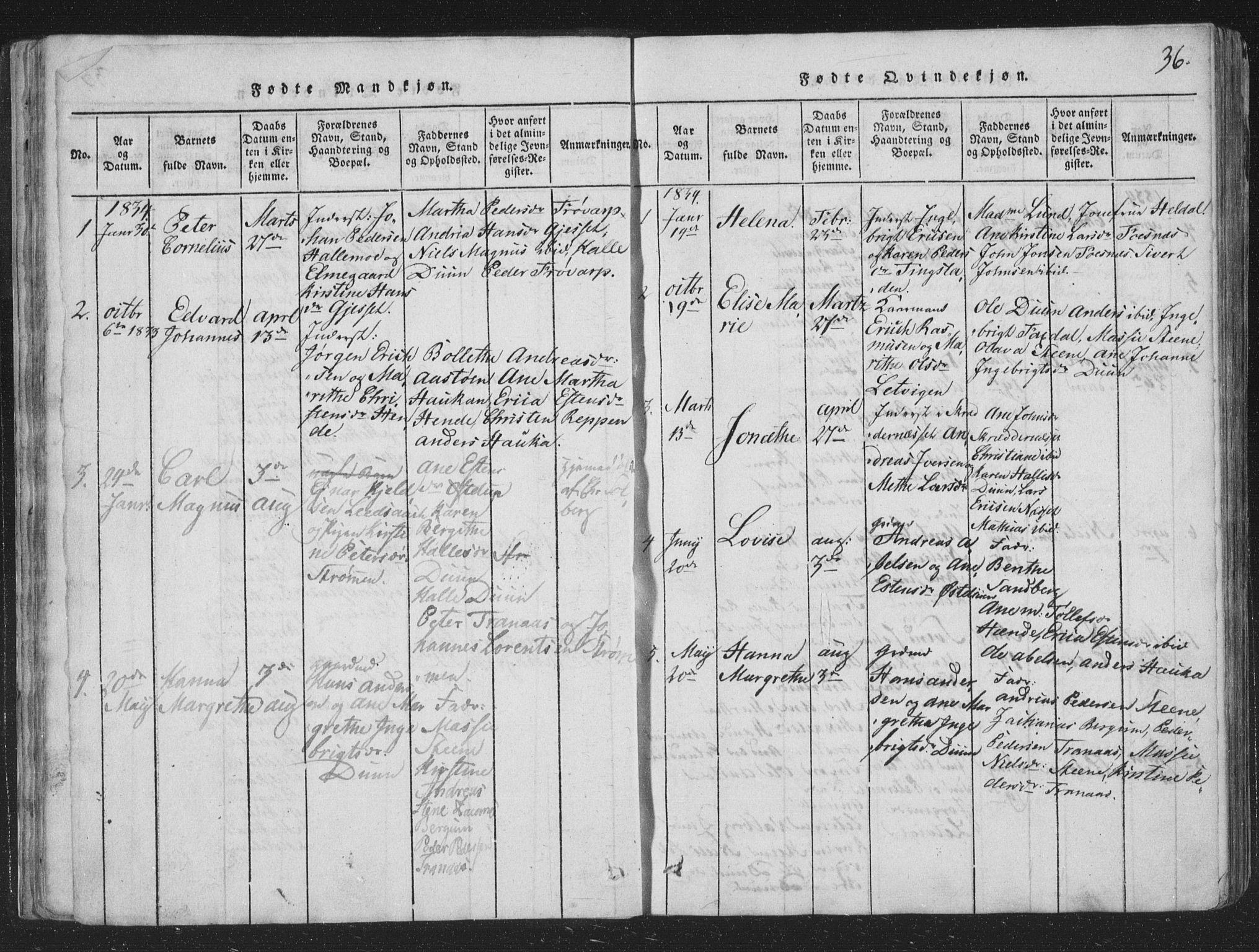 SAT, Ministerialprotokoller, klokkerbøker og fødselsregistre - Nord-Trøndelag, 773/L0613: Ministerialbok nr. 773A04, 1815-1845, s. 36