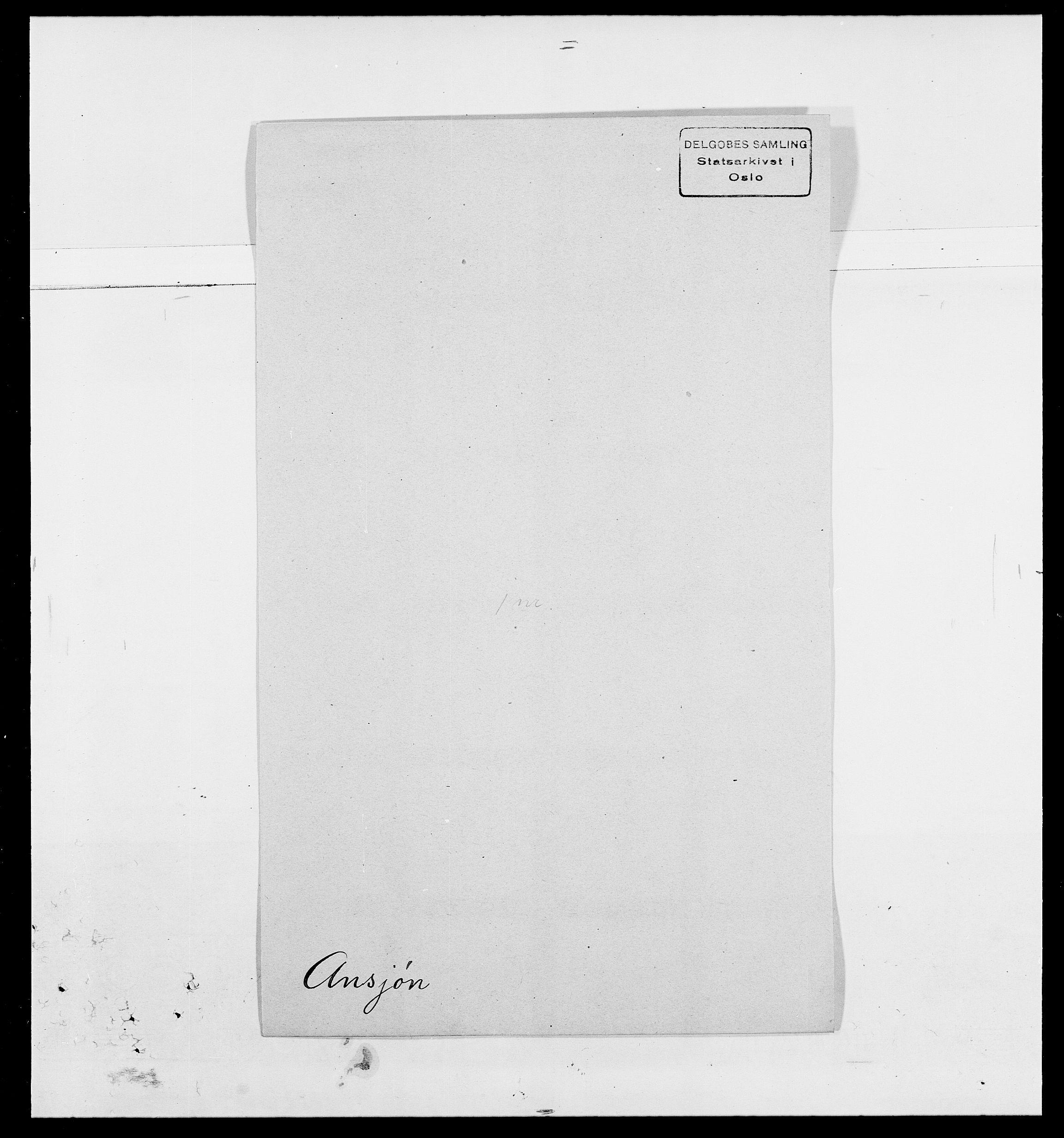 SAO, Delgobe, Charles Antoine - samling, D/Da/L0002: Anker, Ancher - Bauner, s. 189
