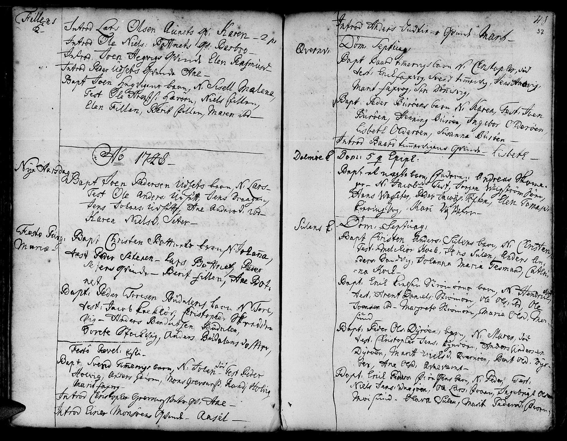 SAT, Ministerialprotokoller, klokkerbøker og fødselsregistre - Sør-Trøndelag, 634/L0525: Ministerialbok nr. 634A01, 1736-1775, s. 57