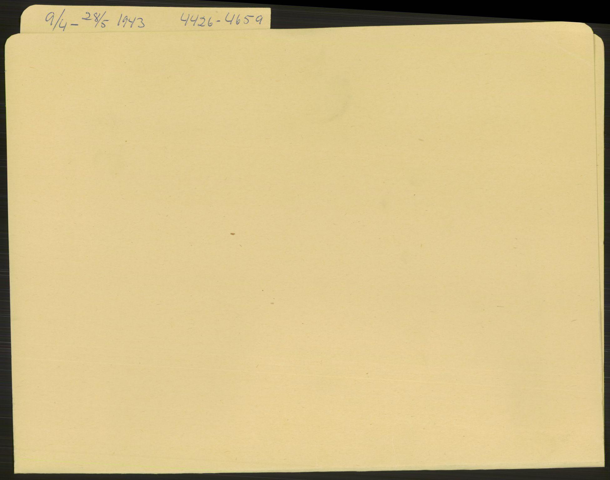 RA, Befehlshaber der Sicherheitspolizei und des SD, E/Ea/Eae/L0001: Einlieferungsschein 4426-5100, 1943