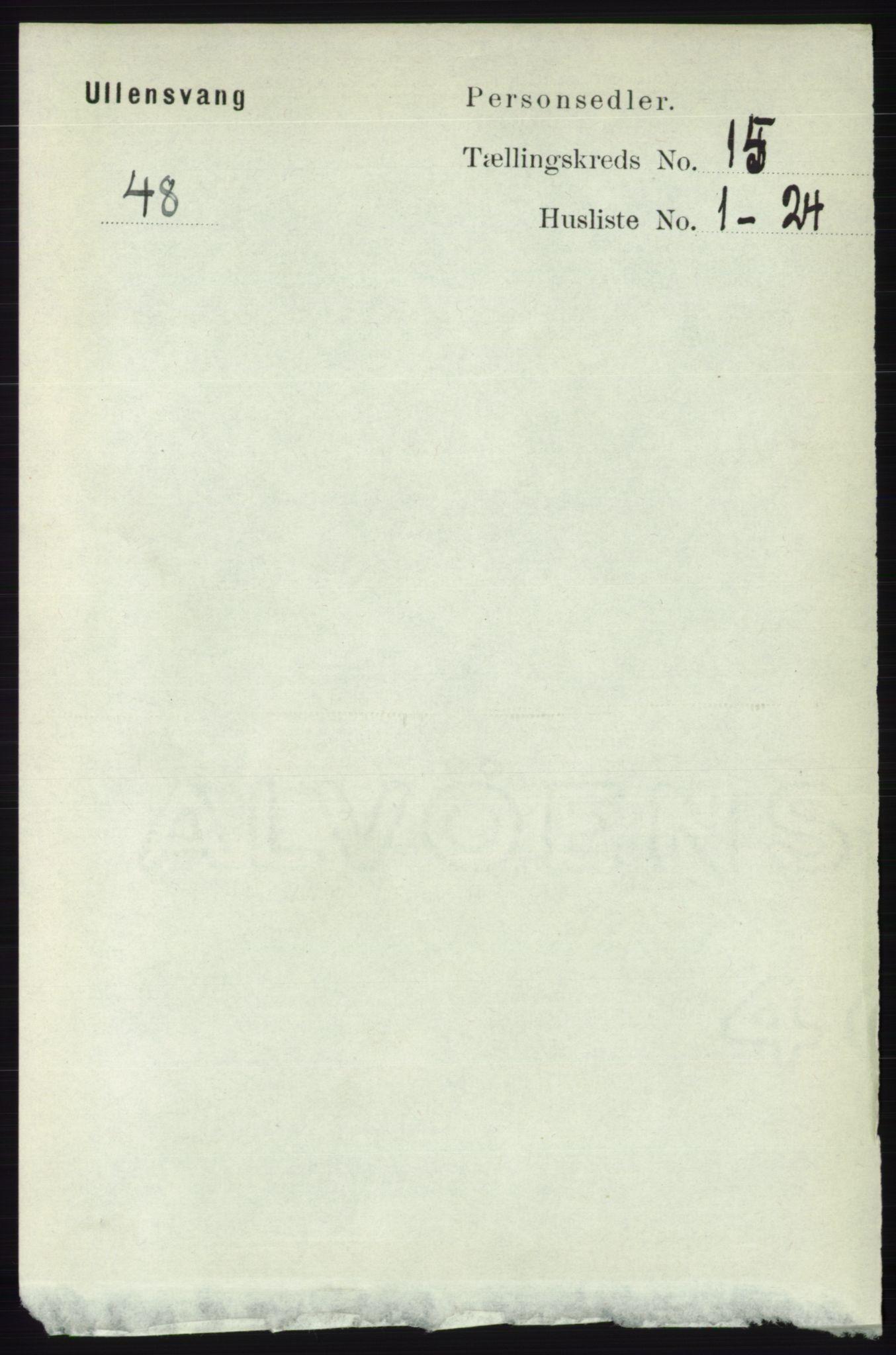 RA, Folketelling 1891 for 1230 Ullensvang herred, 1891, s. 5900