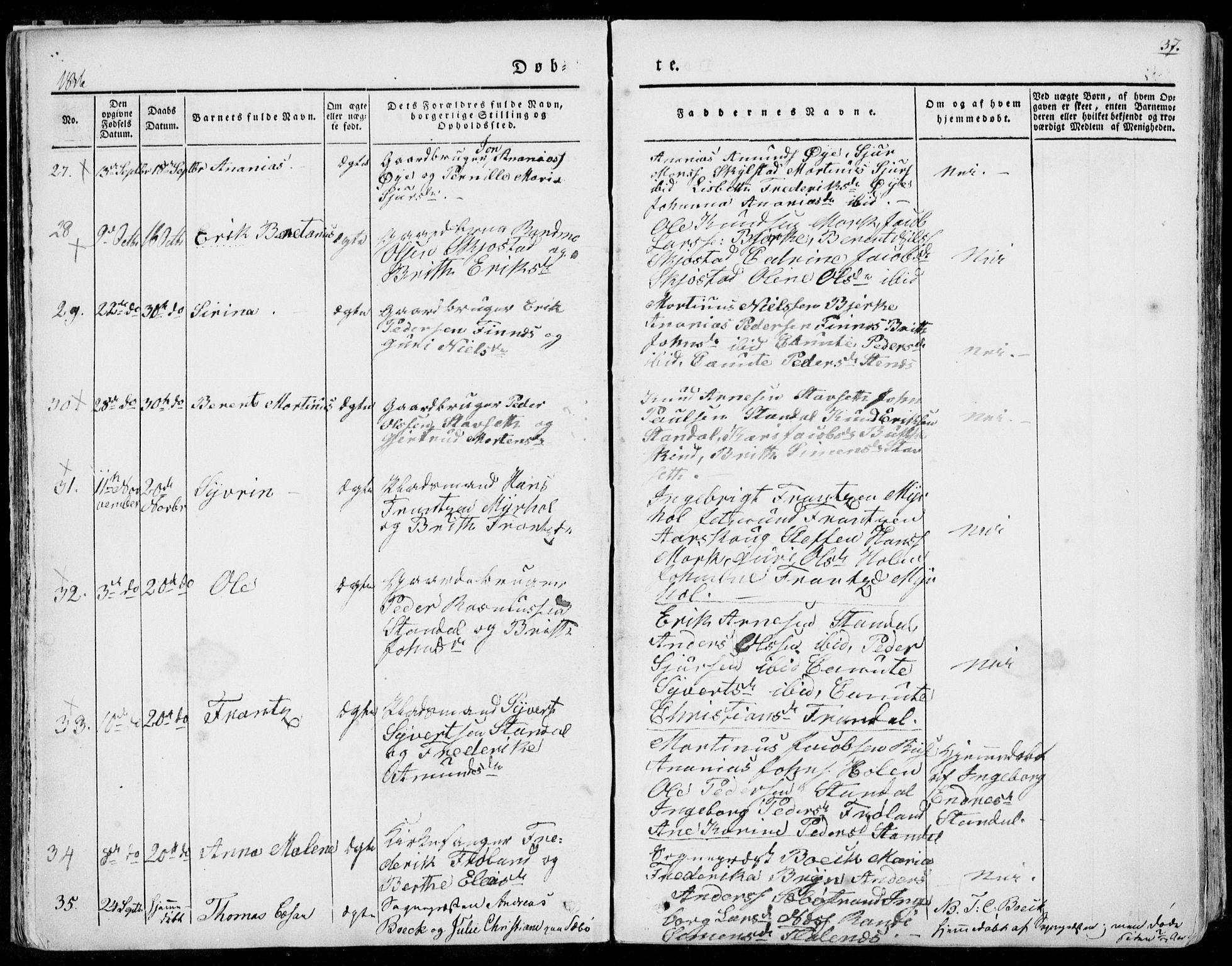 SAT, Ministerialprotokoller, klokkerbøker og fødselsregistre - Møre og Romsdal, 515/L0208: Ministerialbok nr. 515A04, 1830-1846, s. 37