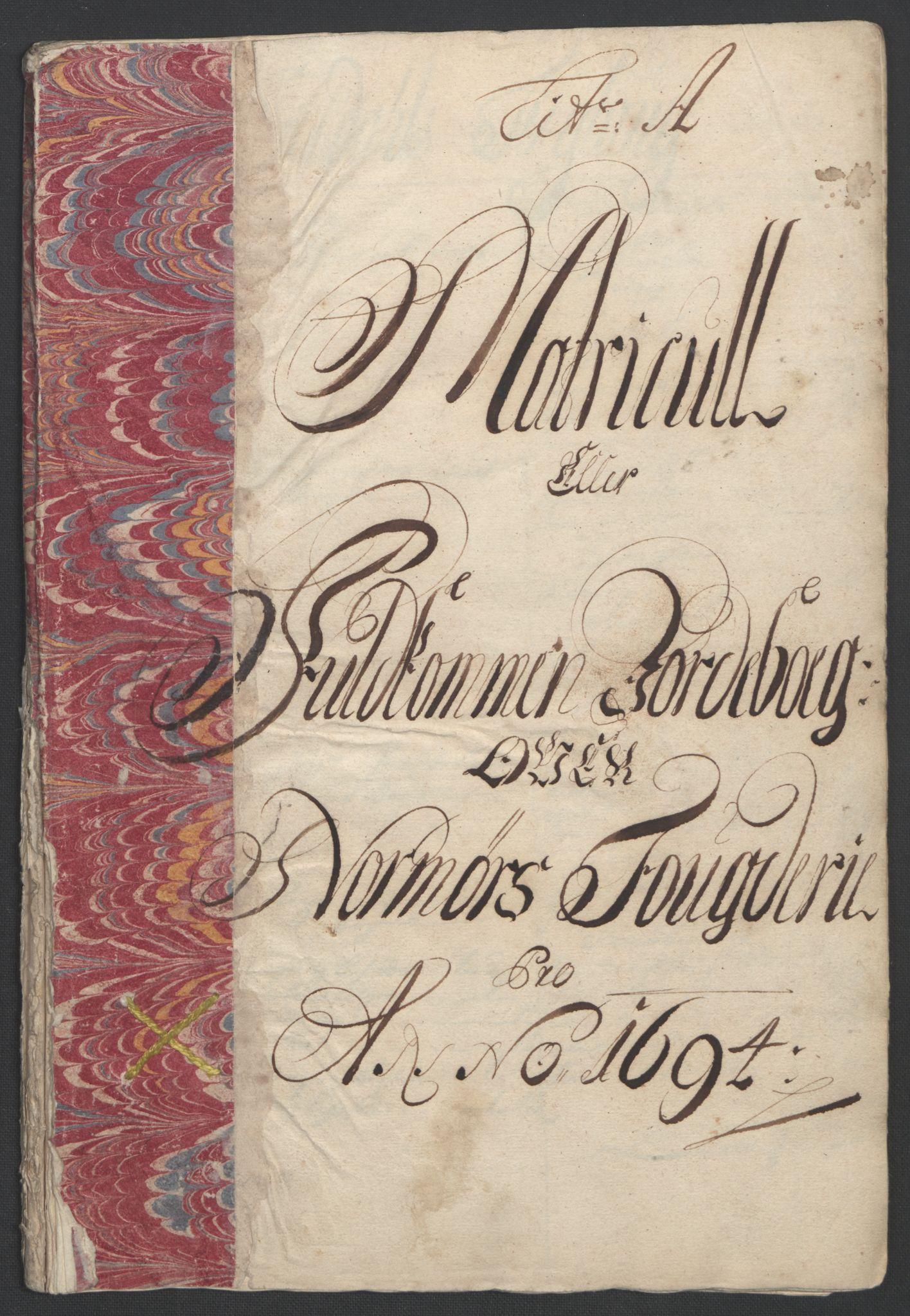 RA, Rentekammeret inntil 1814, Reviderte regnskaper, Fogderegnskap, R56/L3736: Fogderegnskap Nordmøre, 1694-1696, s. 11