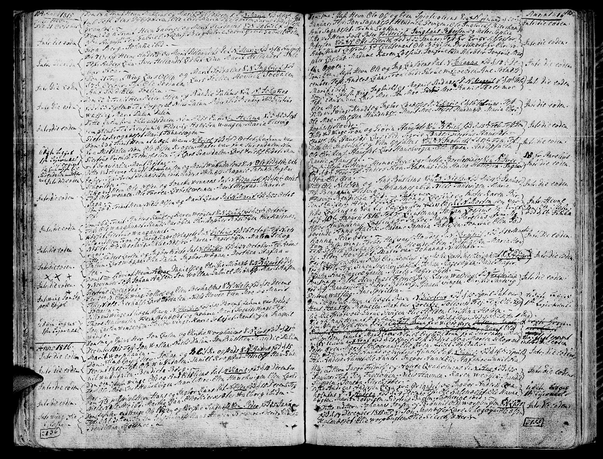 SAT, Ministerialprotokoller, klokkerbøker og fødselsregistre - Sør-Trøndelag, 630/L0490: Ministerialbok nr. 630A03, 1795-1818, s. 104-105