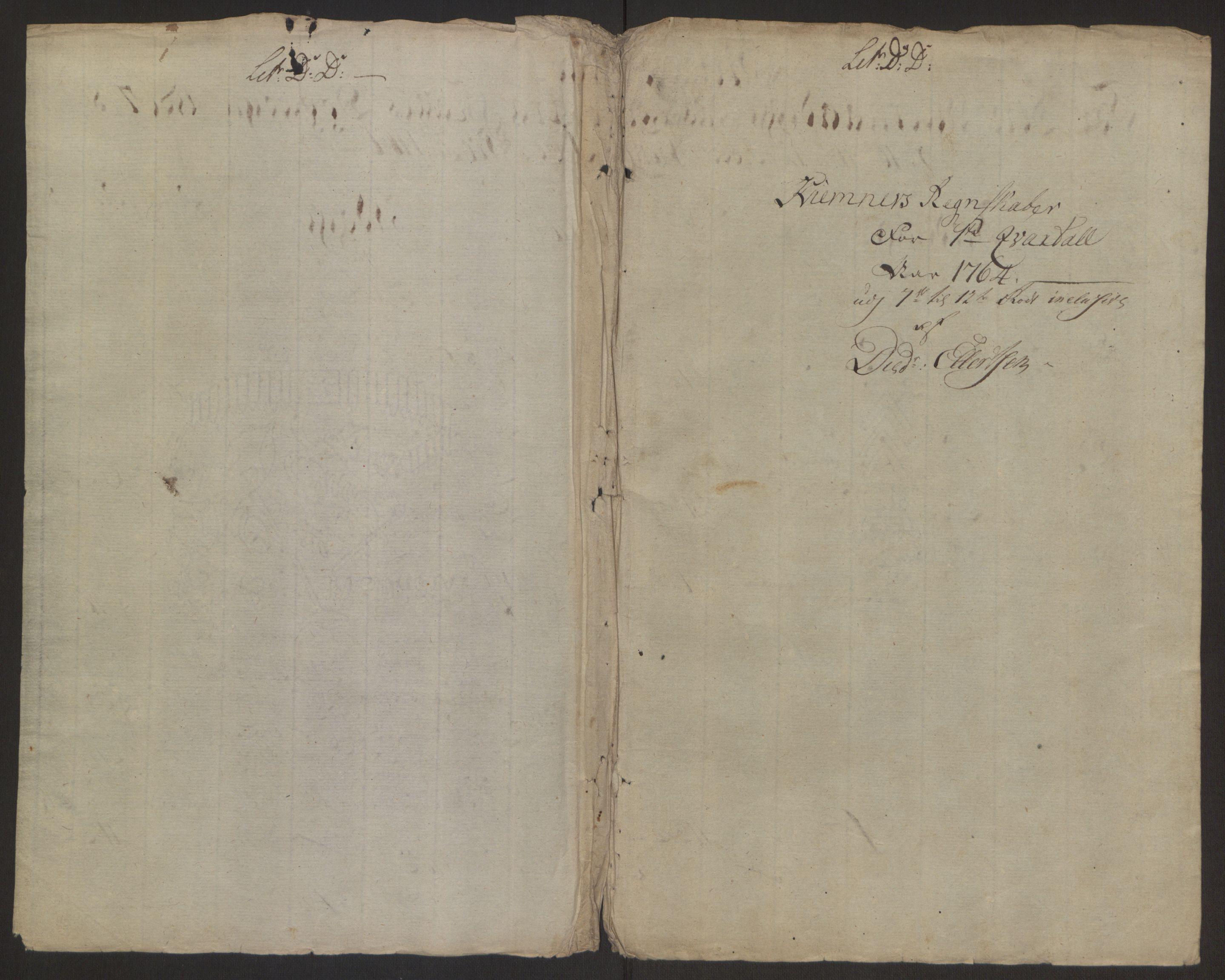 RA, Rentekammeret inntil 1814, Reviderte regnskaper, Byregnskaper, R/Rp/L0367: [P21] Kontribusjonsregnskap, 1764, s. 173