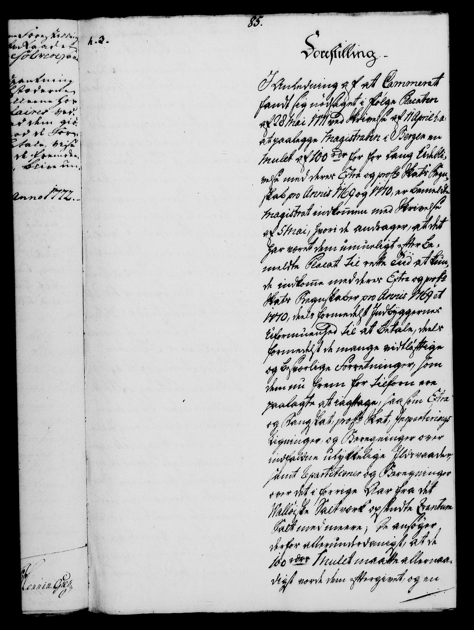 RA, Rentekammeret, Kammerkanselliet, G/Gf/Gfa/L0054: Norsk relasjons- og resolusjonsprotokoll (merket RK 52.54), 1771-1772, s. 563