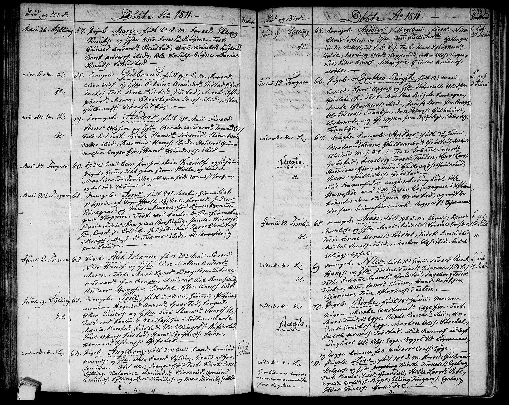 SAKO, Lier kirkebøker, F/Fa/L0007: Ministerialbok nr. I 7, 1794-1813, s. 233