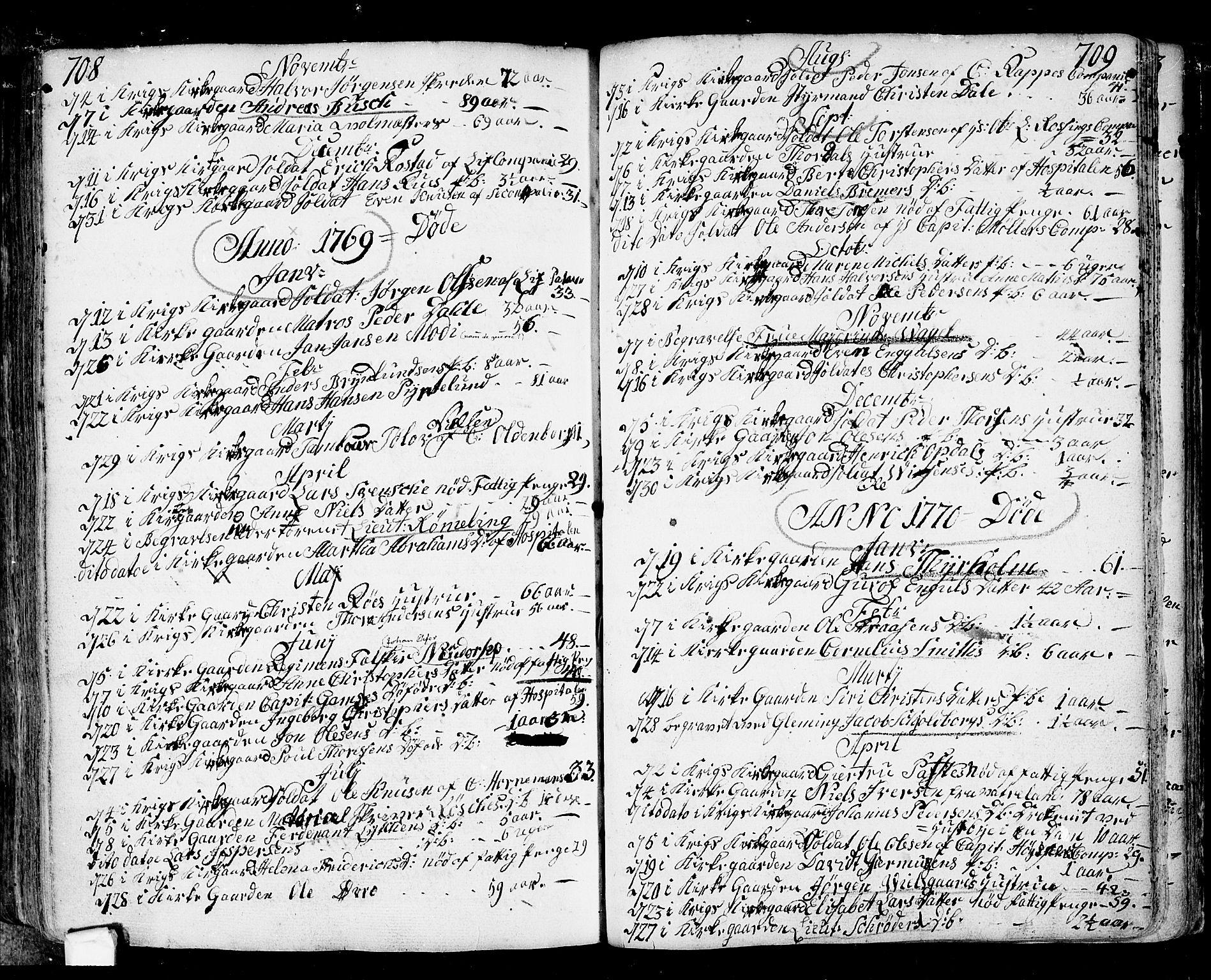 SAO, Fredrikstad prestekontor Kirkebøker, F/Fa/L0002: Ministerialbok nr. 2, 1750-1804, s. 708-709