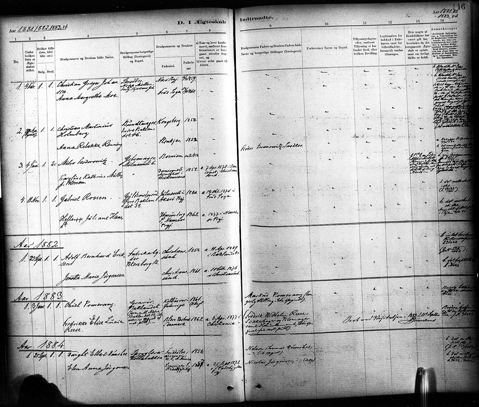 SAT, Ministerialprotokoller, klokkerbøker og fødselsregistre - Sør-Trøndelag, 604/L0189: Ministerialbok nr. 604A10, 1878-1892, s. 146