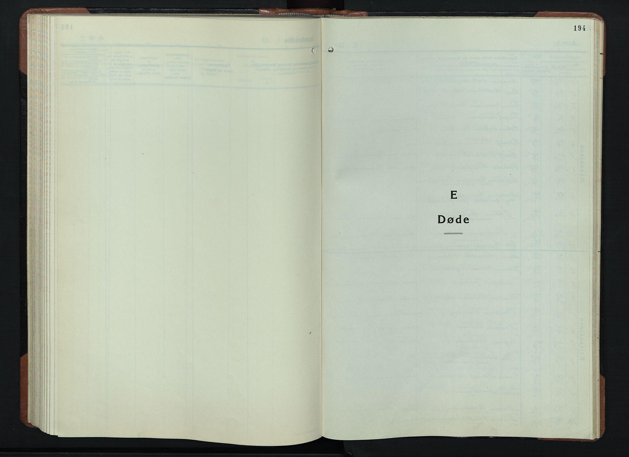 SAH, Vardal prestekontor, H/Ha/Hab/L0018: Klokkerbok nr. 18, 1931-1951, s. 194