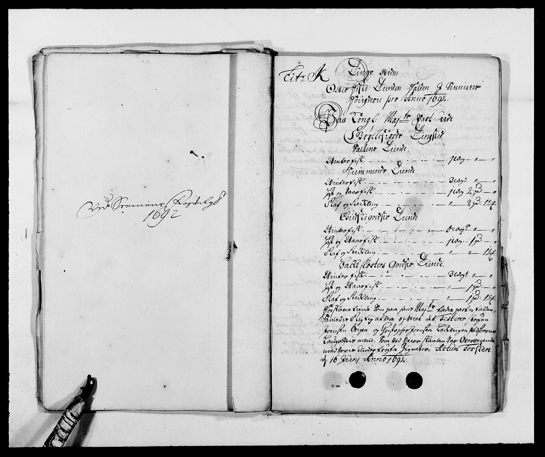 RA, Rentekammeret inntil 1814, Reviderte regnskaper, Fogderegnskap, R68/L4752: Fogderegnskap Senja og Troms, 1691-1693, s. 241