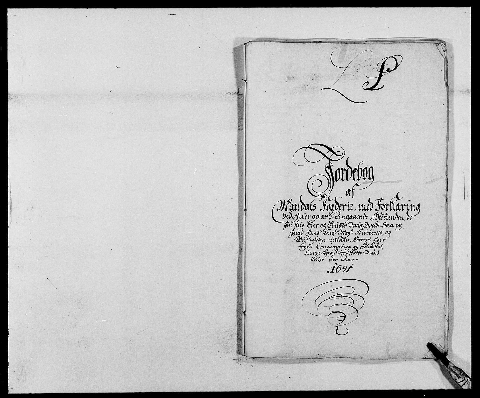 RA, Rentekammeret inntil 1814, Reviderte regnskaper, Fogderegnskap, R42/L2543: Mandal fogderi, 1688-1691, s. 215