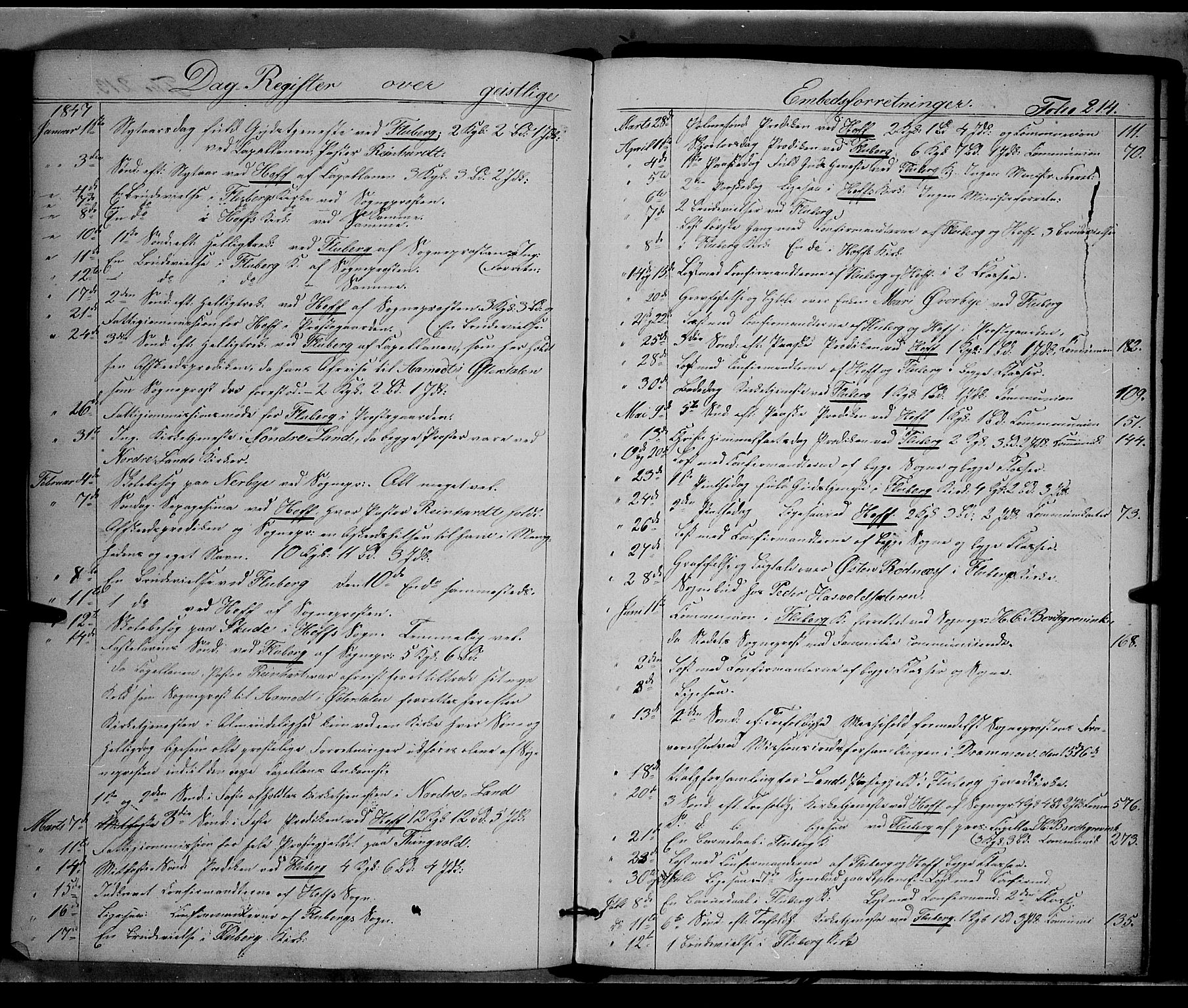 SAH, Land prestekontor, Ministerialbok nr. 9, 1847-1859, s. 214