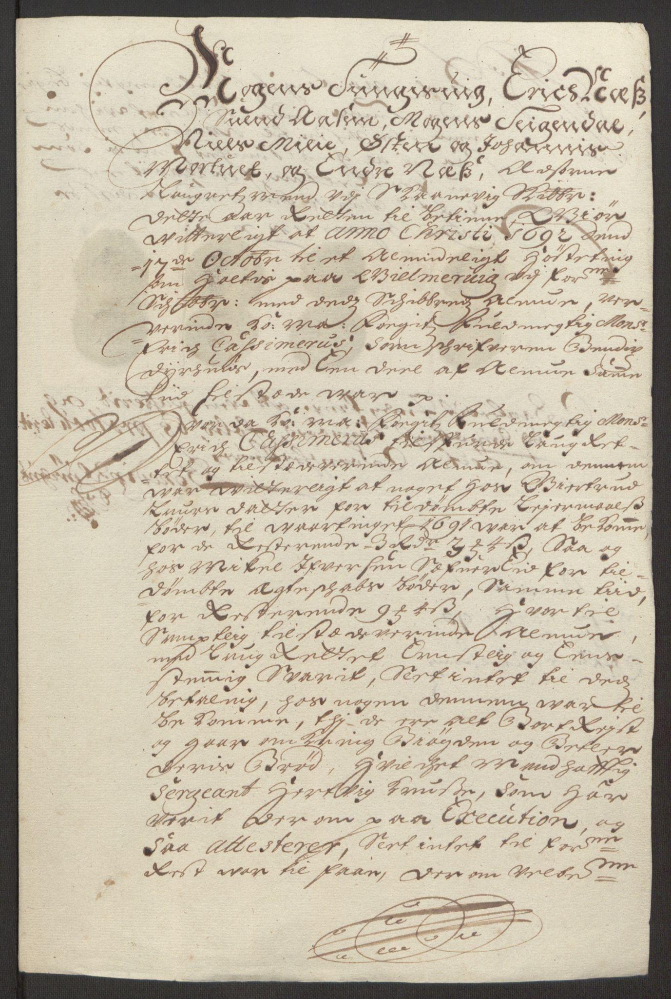 RA, Rentekammeret inntil 1814, Reviderte regnskaper, Fogderegnskap, R48/L2973: Fogderegnskap Sunnhordland og Hardanger, 1691-1692, s. 441