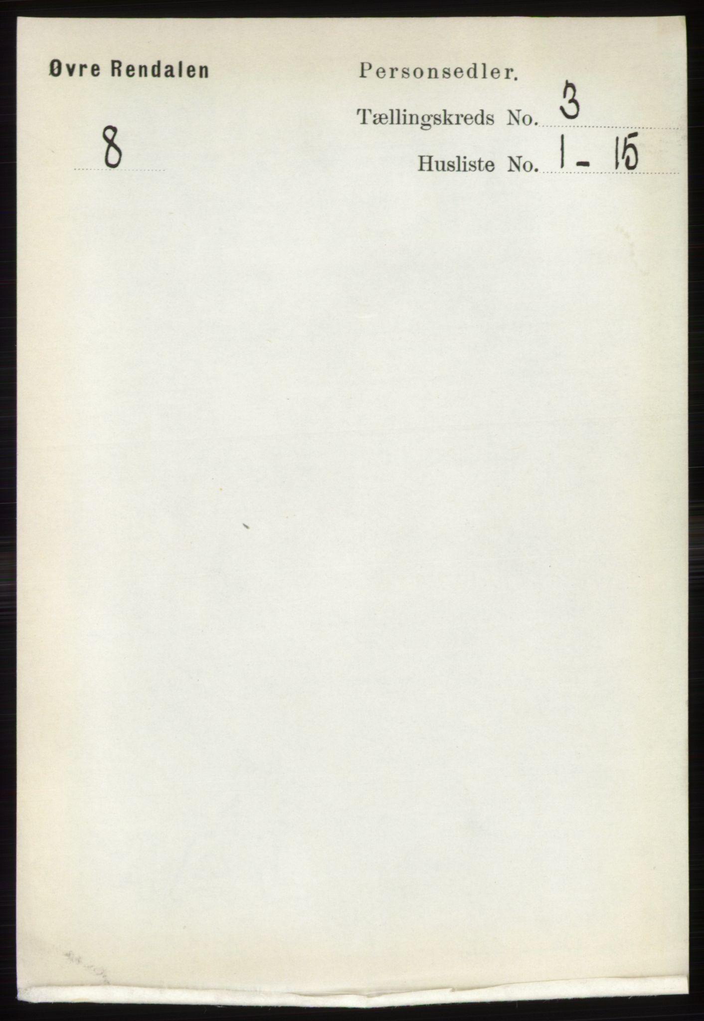 RA, Folketelling 1891 for 0433 Øvre Rendal herred, 1891, s. 817