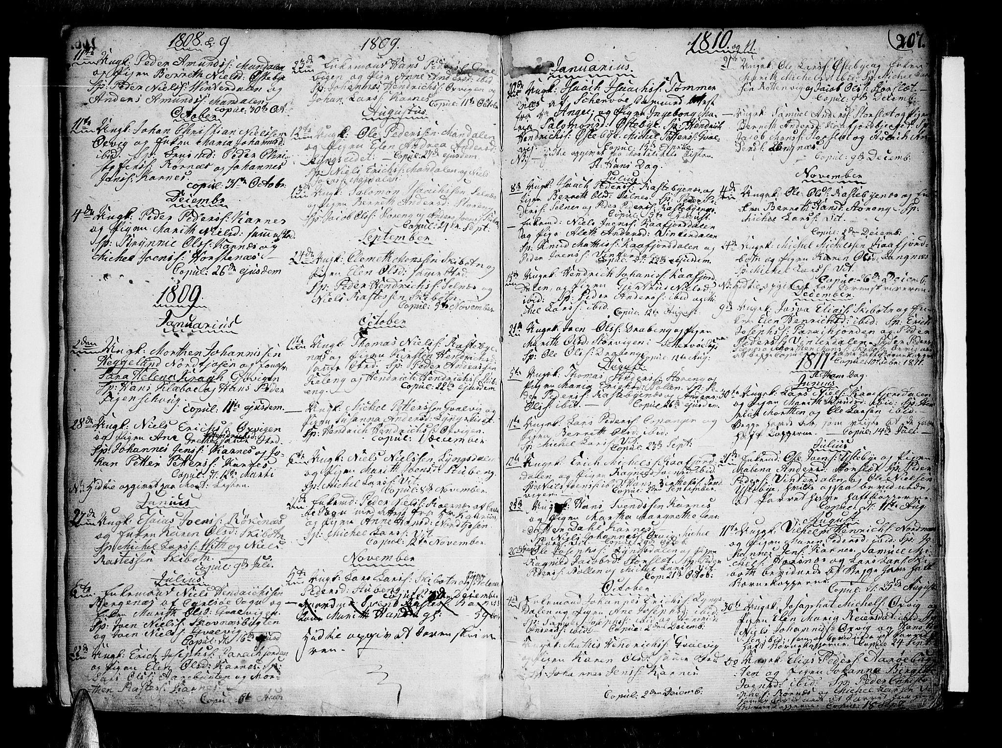 SATØ, Lyngen sokneprestembete, H/He/Hea/L0002kirke: Ministerialbok nr. 2, 1785-1840, s. 207