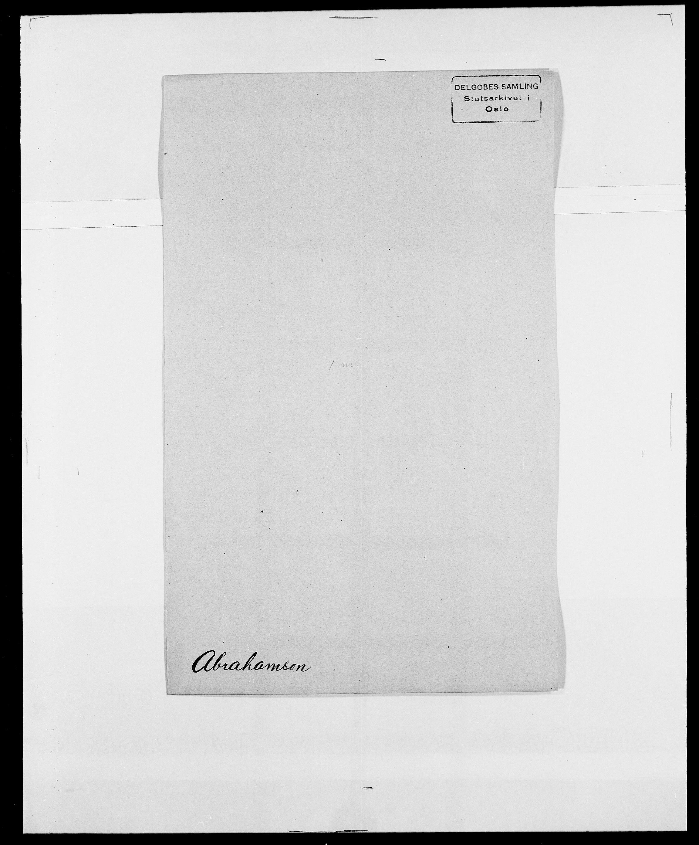 SAO, Delgobe, Charles Antoine - samling, D/Da/L0001: Aabye - Angerman, s. 234