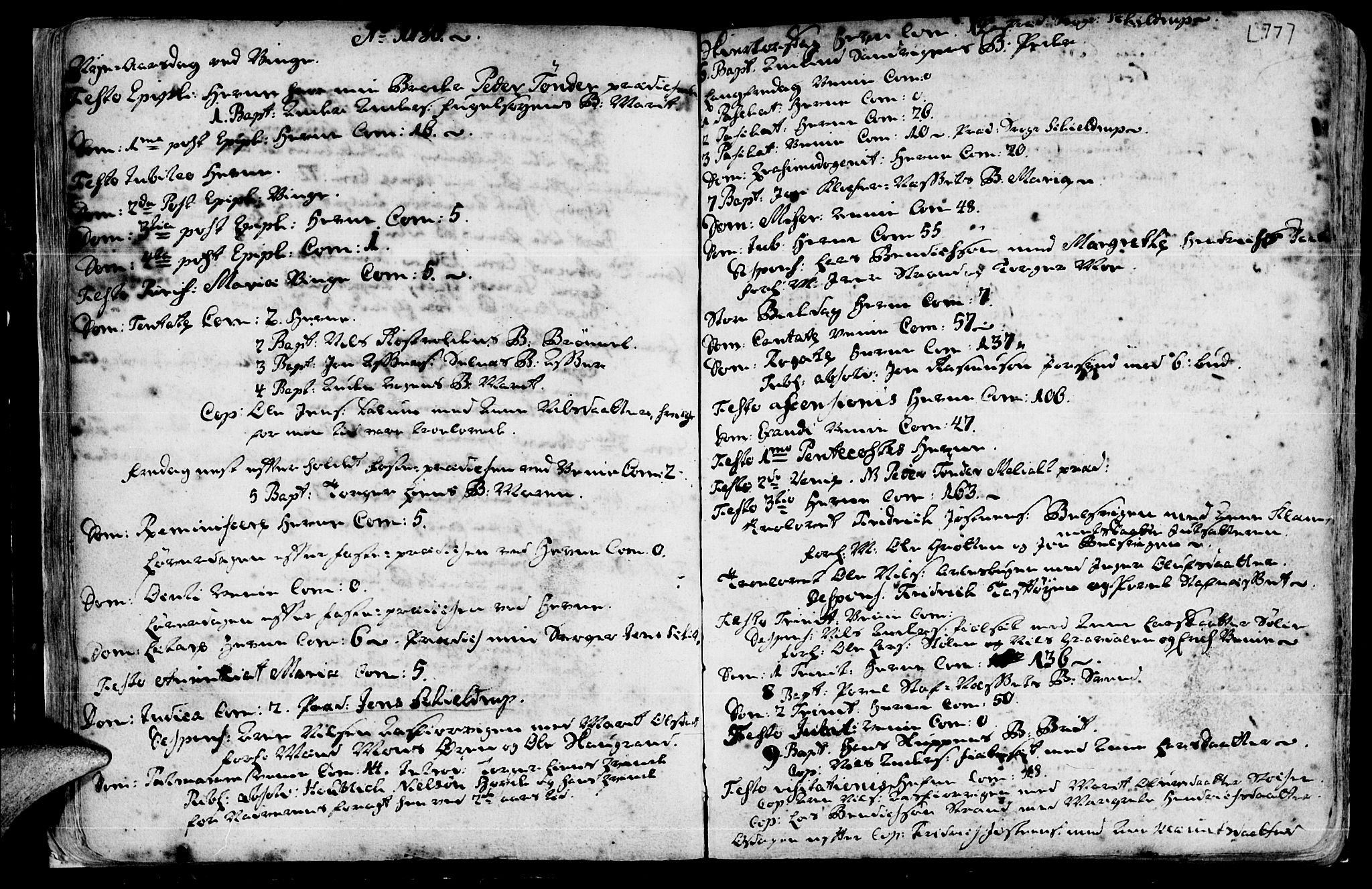 SAT, Ministerialprotokoller, klokkerbøker og fødselsregistre - Sør-Trøndelag, 630/L0488: Ministerialbok nr. 630A01, 1717-1756, s. 76-77