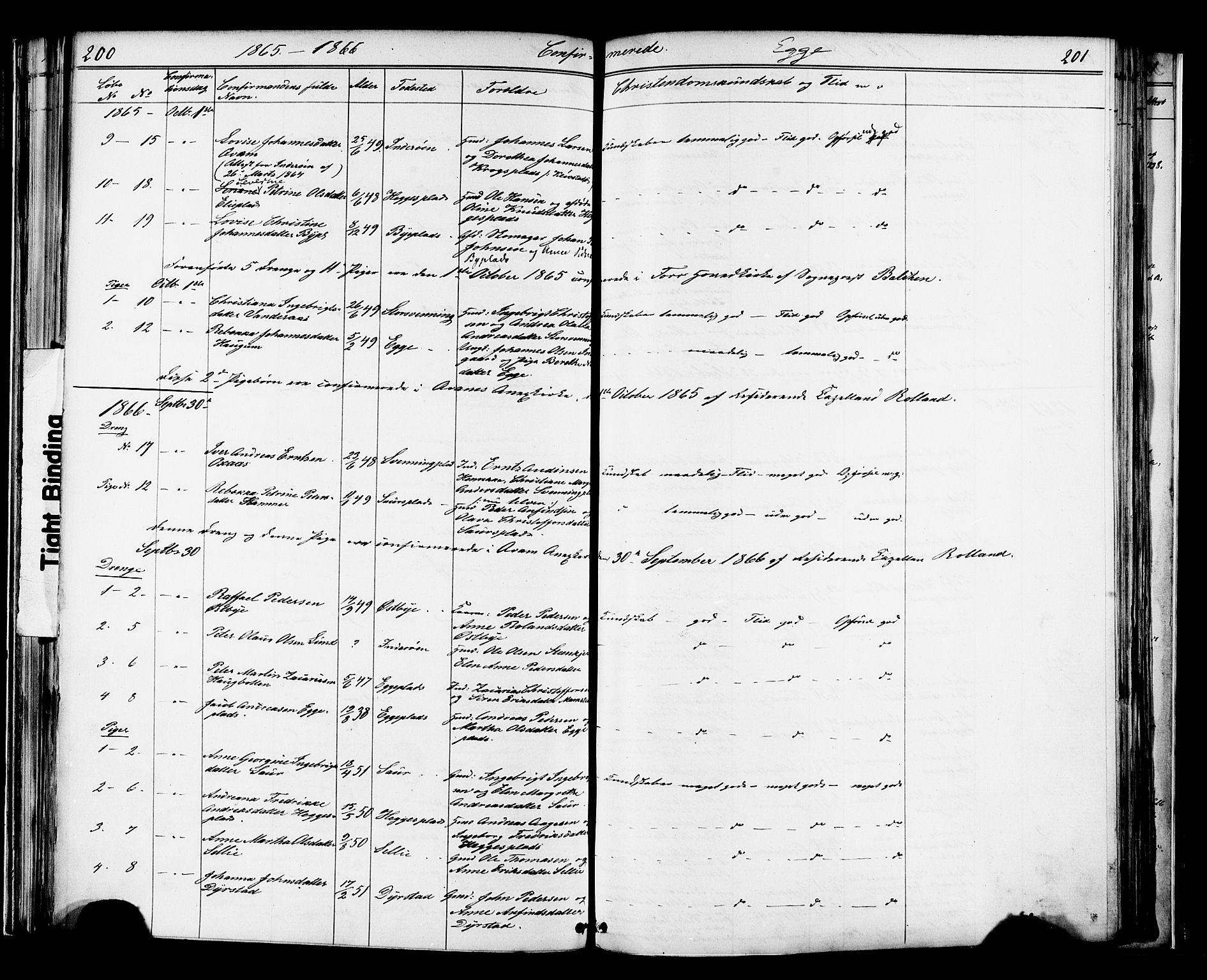 SAT, Ministerialprotokoller, klokkerbøker og fødselsregistre - Nord-Trøndelag, 739/L0367: Ministerialbok nr. 739A01 /3, 1838-1868, s. 200-201