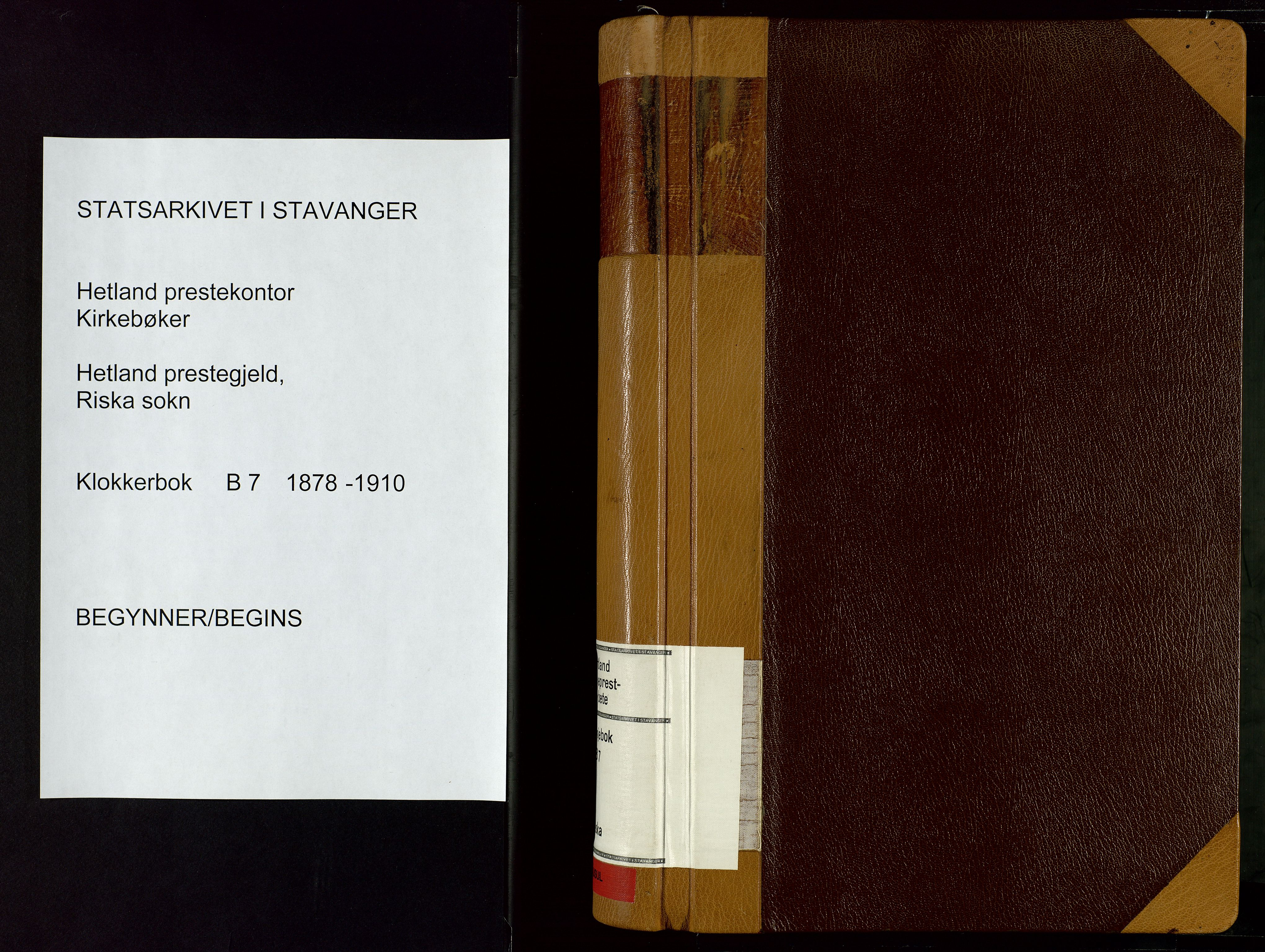 SAST, Hetland sokneprestkontor, 30/30BB/L0007: Klokkerbok nr. B 7, 1878-1910