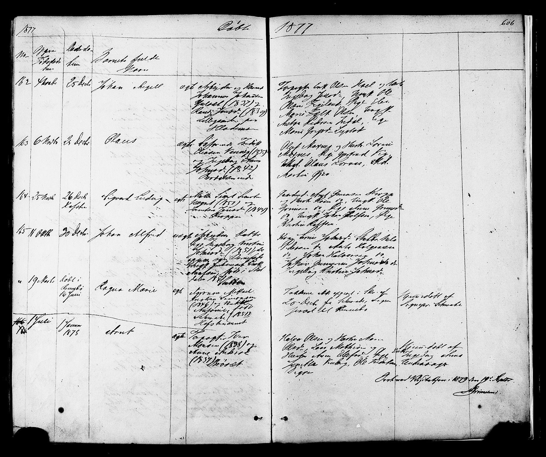 SAT, Ministerialprotokoller, klokkerbøker og fødselsregistre - Sør-Trøndelag, 606/L0293: Ministerialbok nr. 606A08, 1866-1877, s. 606