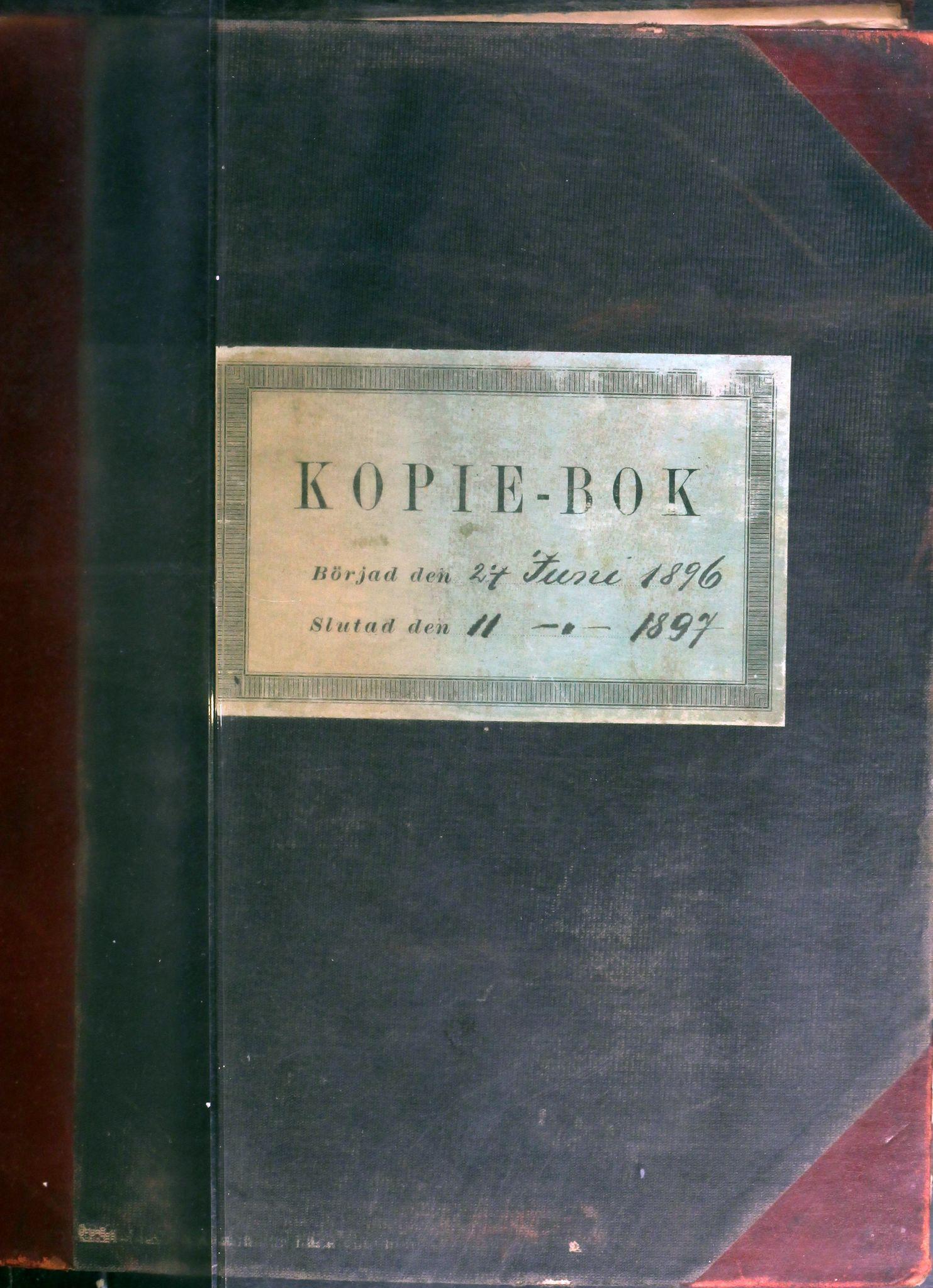 AIN, A/S Sulitjelma Gruber, B/Ba/L0009: Kopibok - Diverse adressater, 1896-1897
