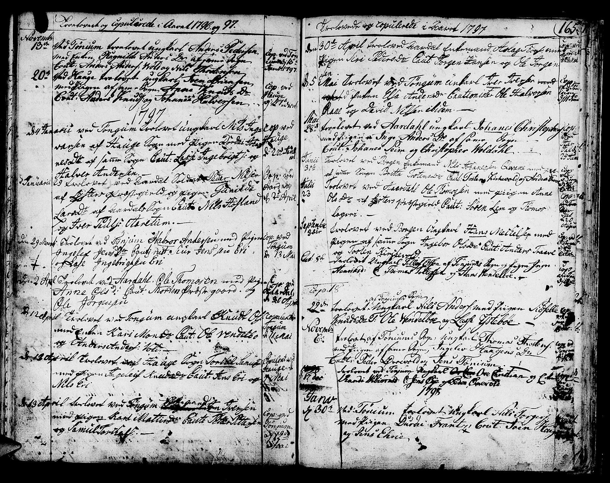 SAB, Lærdal sokneprestembete, Ministerialbok nr. A 3, 1783-1804, s. 165