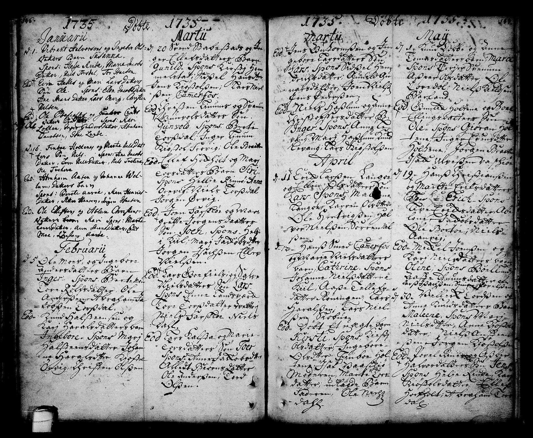 SAKO, Sannidal kirkebøker, F/Fa/L0001: Ministerialbok nr. 1, 1702-1766, s. 146-147