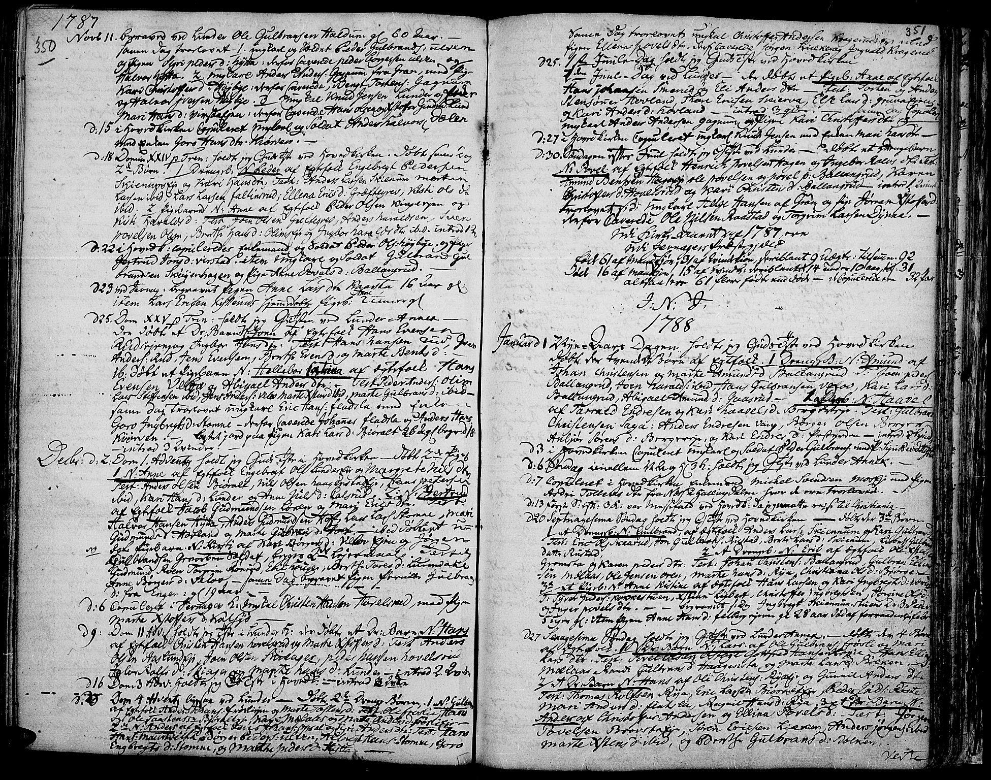 SAH, Jevnaker prestekontor, Ministerialbok nr. 3, 1752-1799, s. 350-351