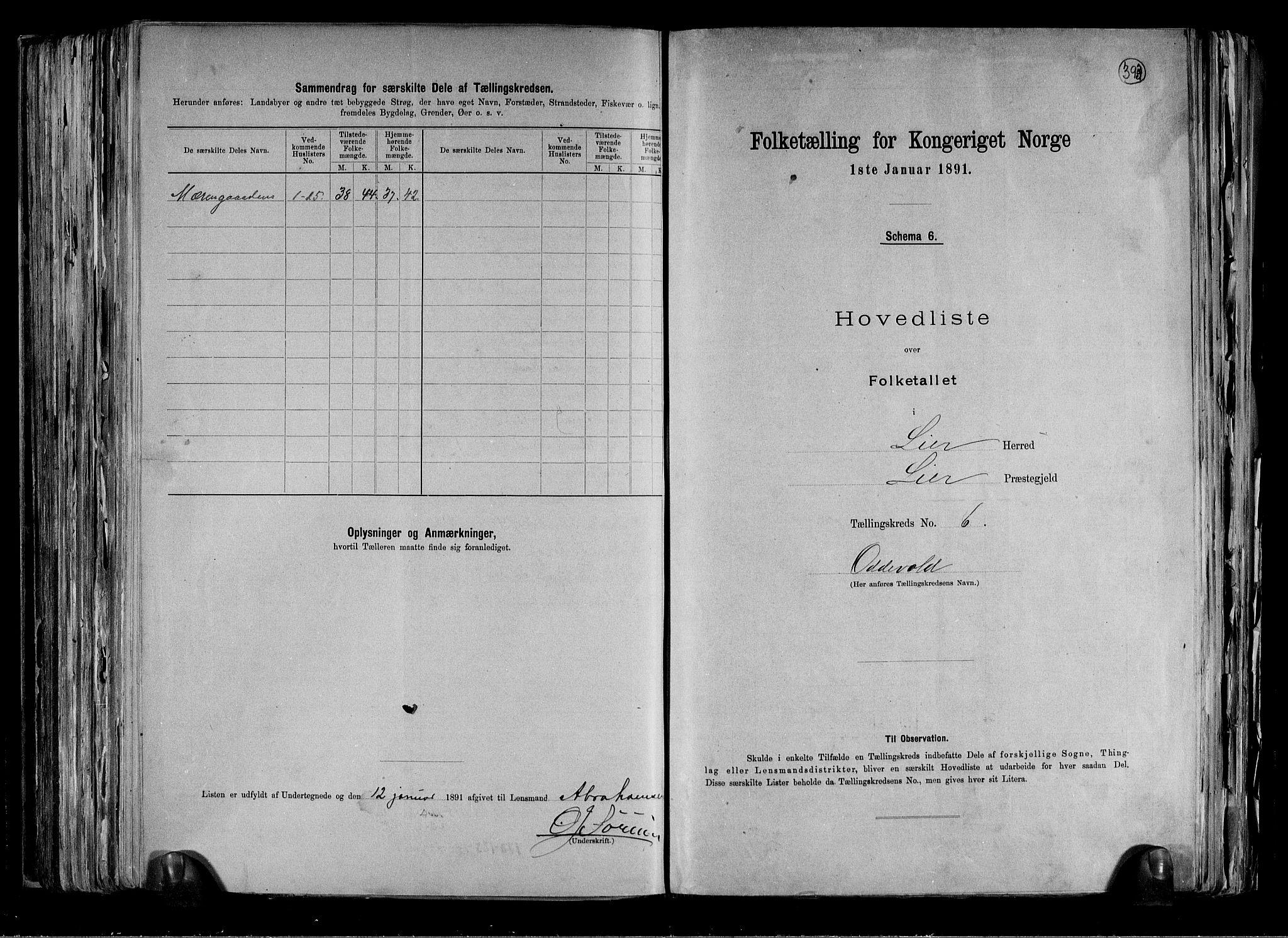RA, Folketelling 1891 for 0626 Lier herred, 1891, s. 18