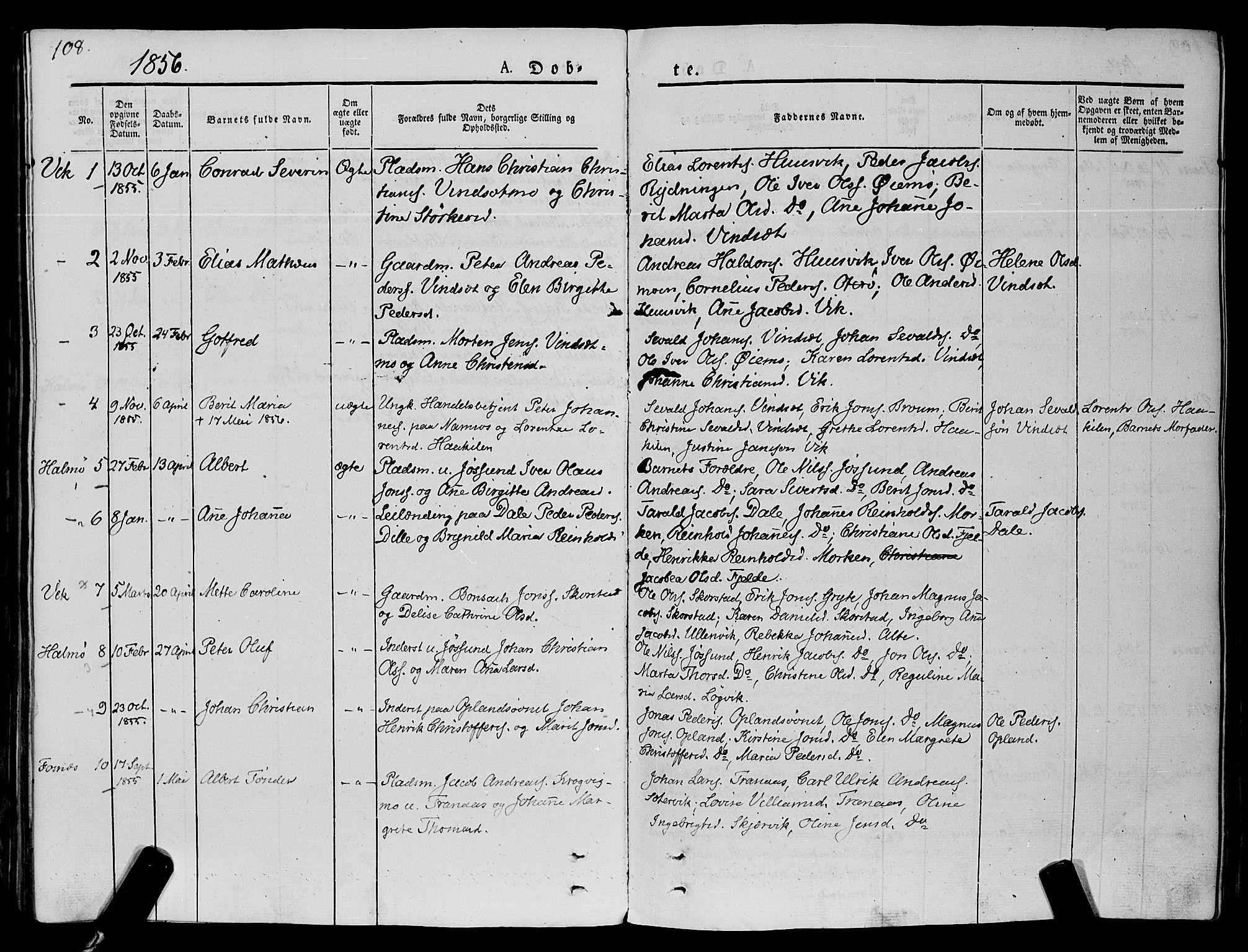 SAT, Ministerialprotokoller, klokkerbøker og fødselsregistre - Nord-Trøndelag, 773/L0614: Ministerialbok nr. 773A05, 1831-1856, s. 108