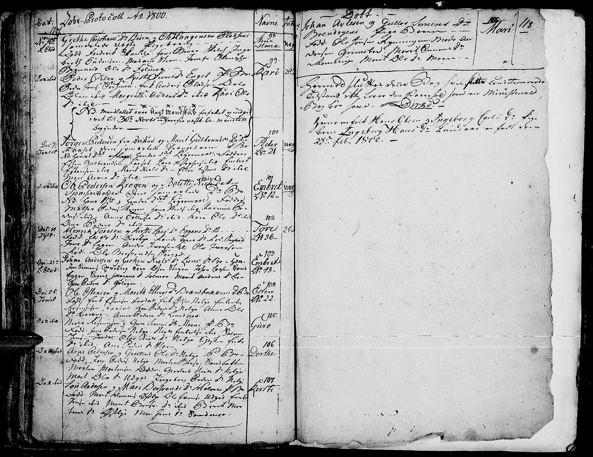 SAH, Tynset prestekontor, Ministerialbok nr. 14, 1790-1800, s. 117-118