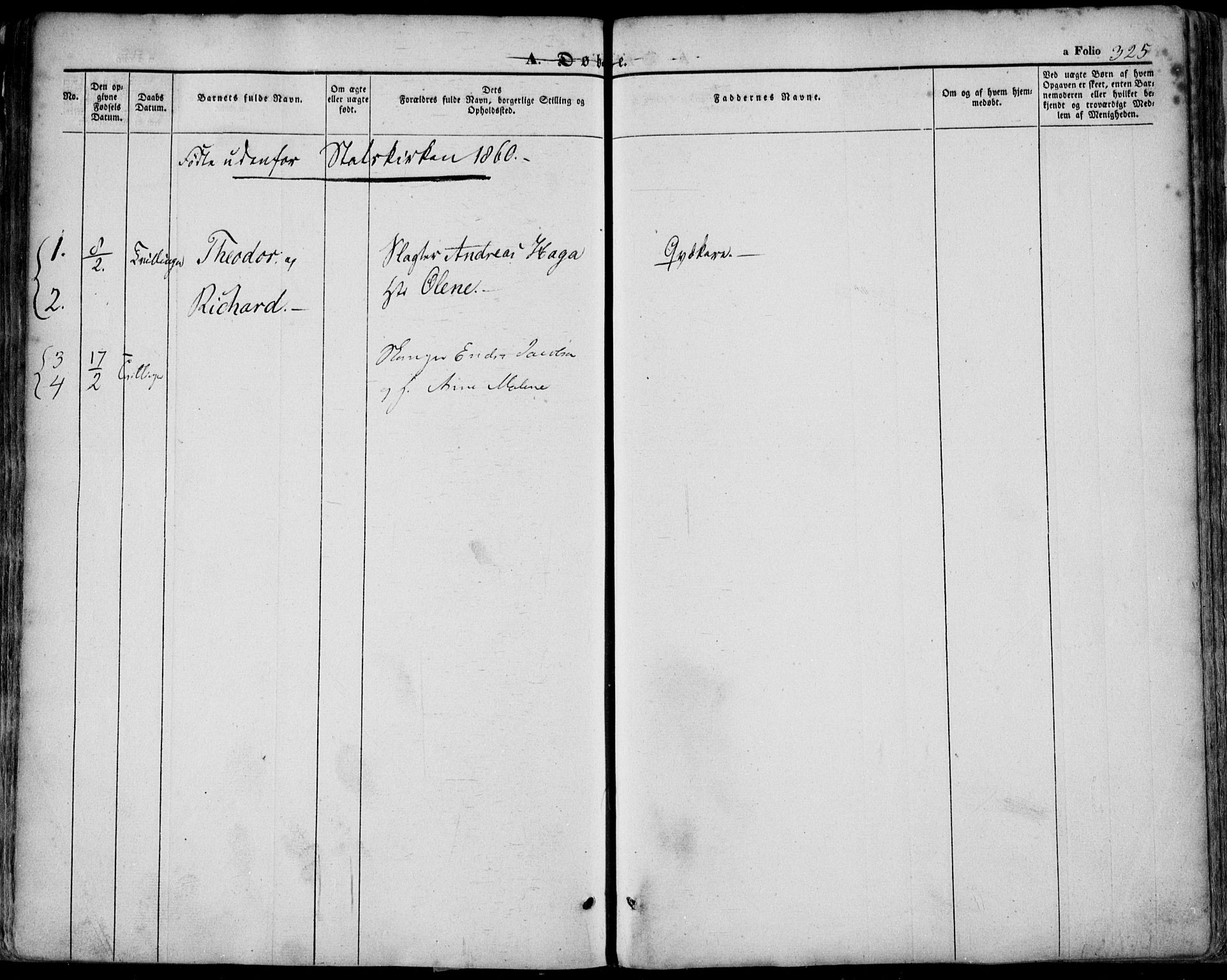 SAST, Domkirken sokneprestkontor, 30/30BA/L0016: Ministerialbok nr. A 15, 1844-1854, s. 325