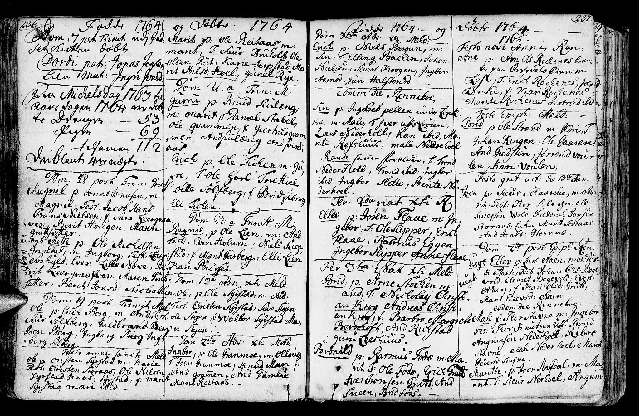 SAT, Ministerialprotokoller, klokkerbøker og fødselsregistre - Sør-Trøndelag, 672/L0851: Ministerialbok nr. 672A04, 1751-1775, s. 236-237