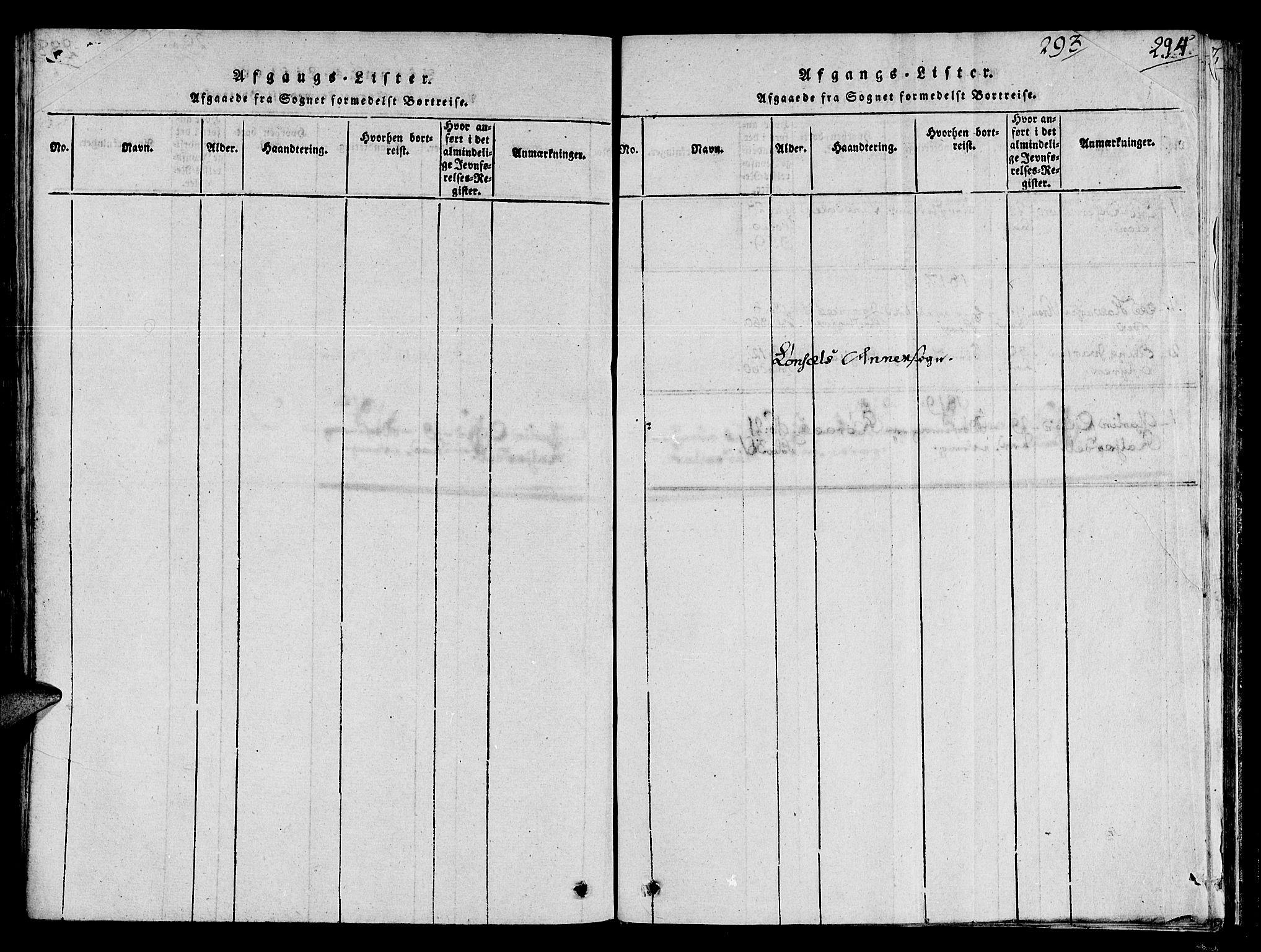 SAT, Ministerialprotokoller, klokkerbøker og fødselsregistre - Sør-Trøndelag, 678/L0896: Ministerialbok nr. 678A05 /2, 1816-1821, s. 293