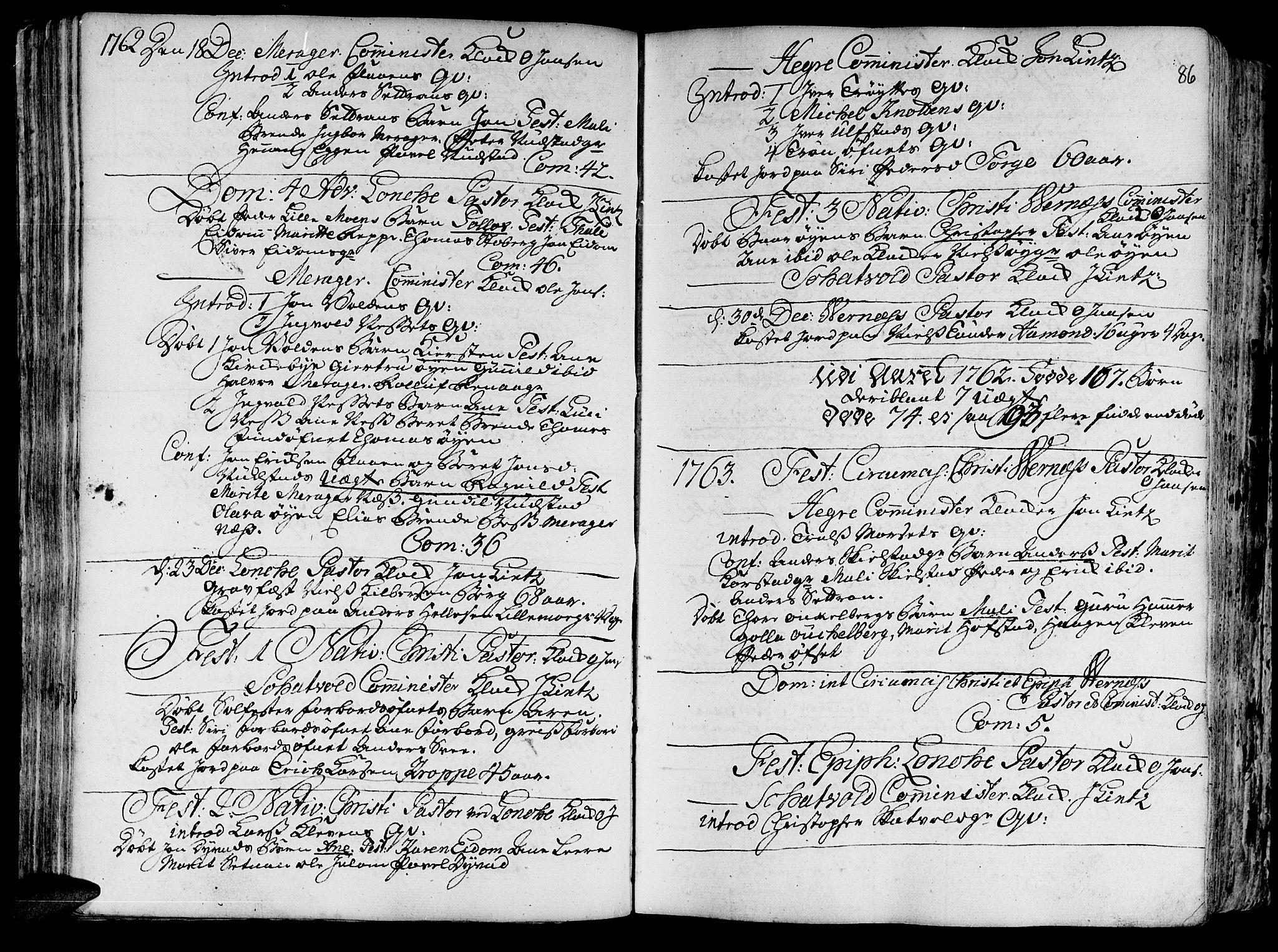 SAT, Ministerialprotokoller, klokkerbøker og fødselsregistre - Nord-Trøndelag, 709/L0057: Ministerialbok nr. 709A05, 1755-1780, s. 86