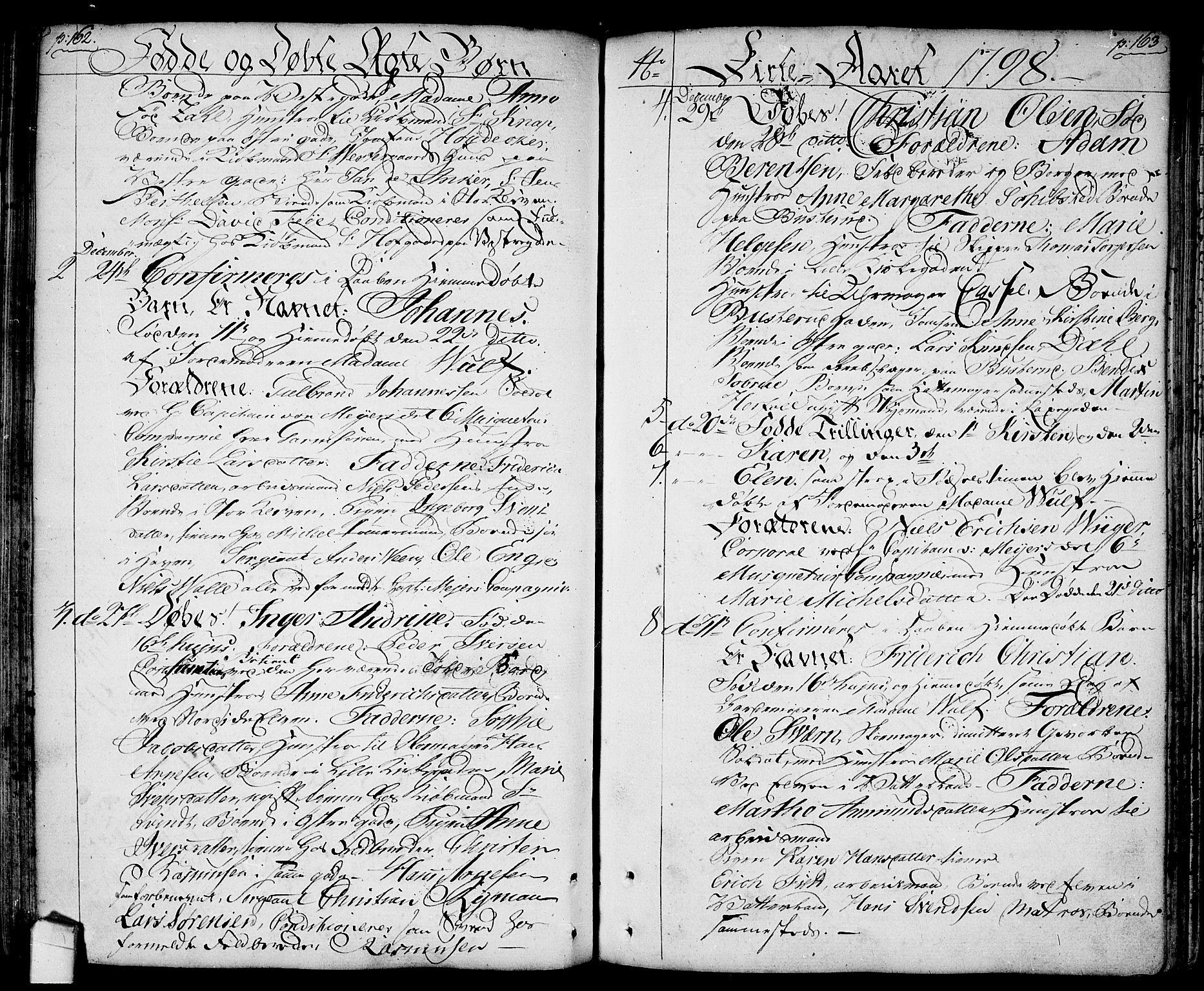SAO, Halden prestekontor Kirkebøker, F/Fa/L0002: Ministerialbok nr. I 2, 1792-1812, s. 162-163