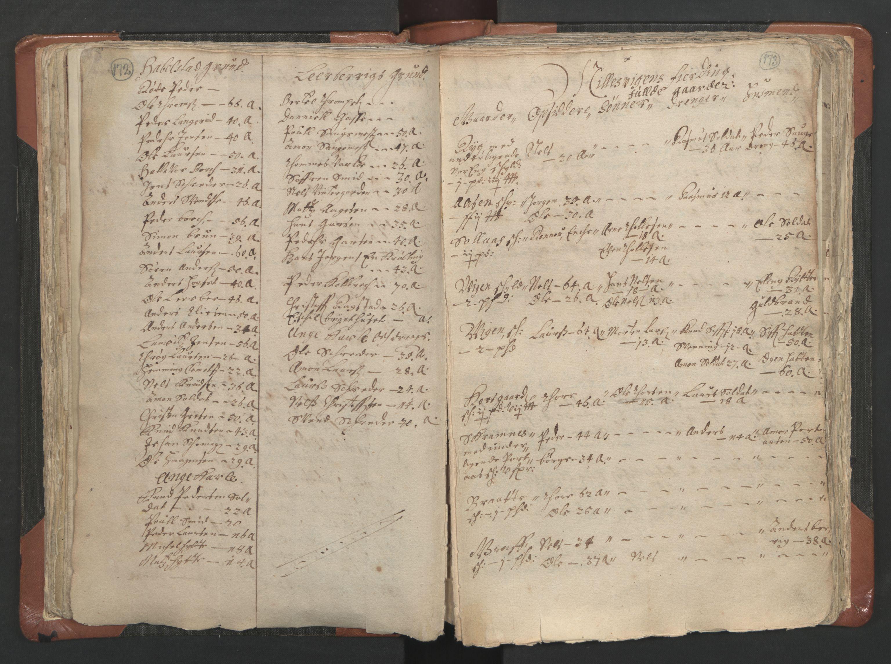 RA, Sogneprestenes manntall 1664-1666, nr. 9: Bragernes prosti, 1664-1666, s. 172-173
