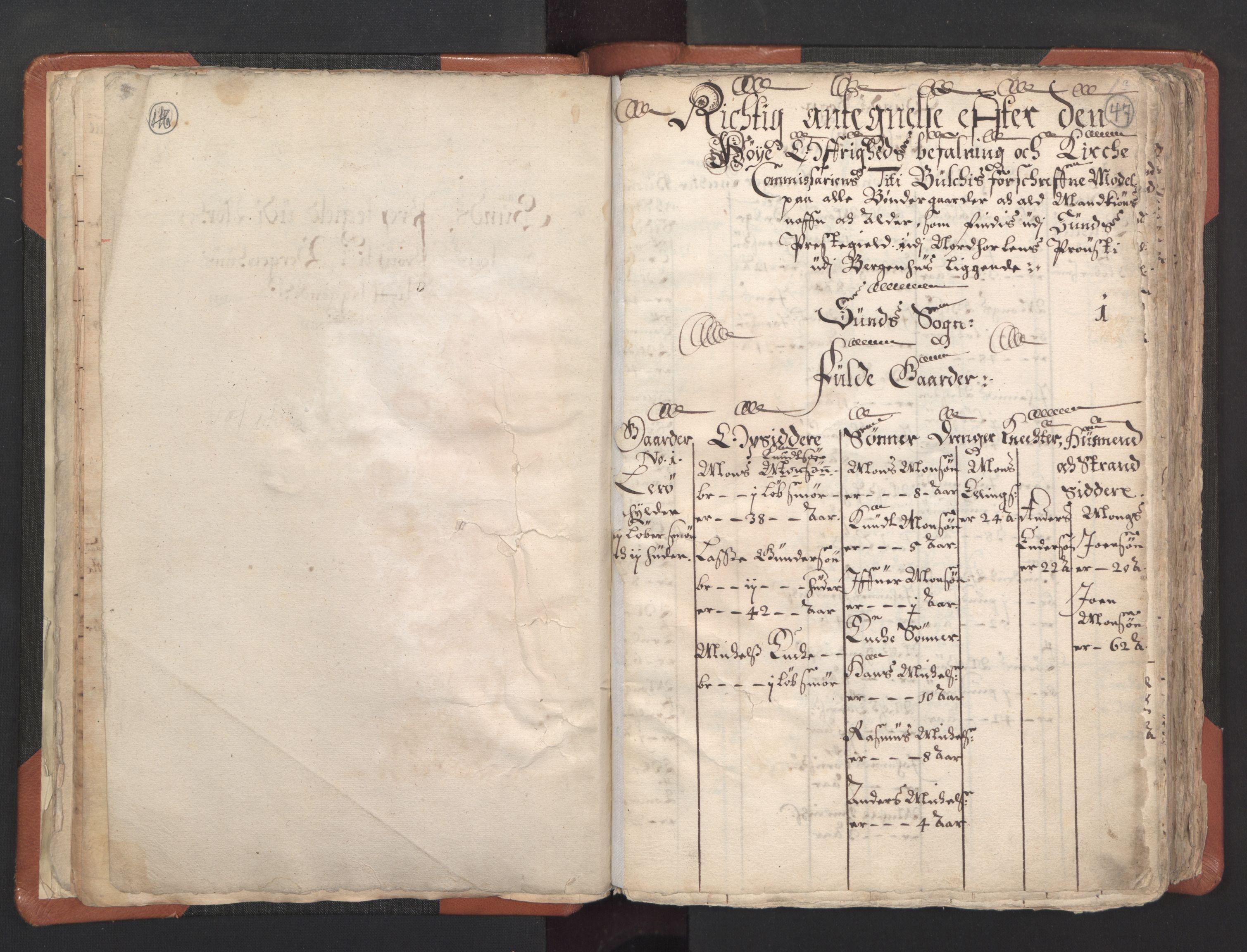 RA, Sogneprestenes manntall 1664-1666, nr. 22: Nordhordland prosti, 1664-1666, s. 46-47