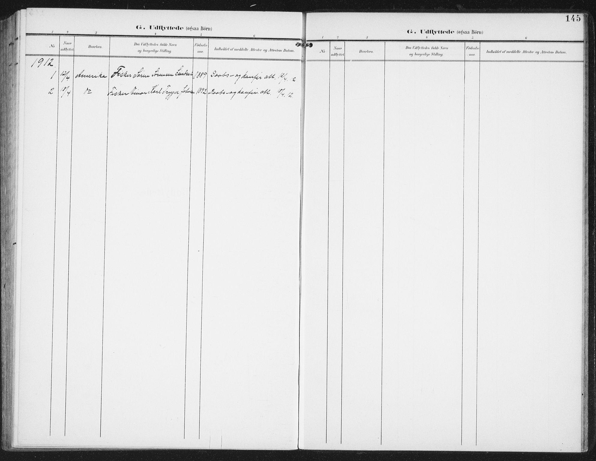 SAT, Ministerialprotokoller, klokkerbøker og fødselsregistre - Nordland, 886/L1221: Ministerialbok nr. 886A03, 1903-1913, s. 145