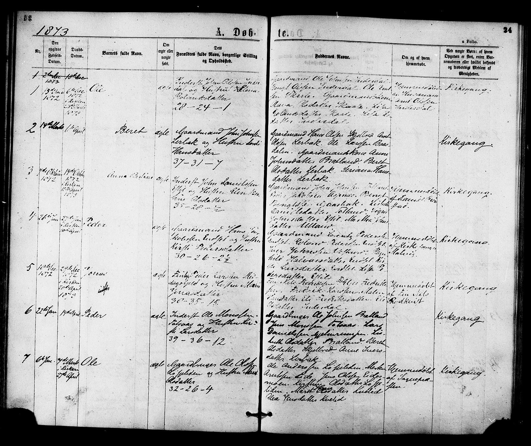 SAT, Ministerialprotokoller, klokkerbøker og fødselsregistre - Nord-Trøndelag, 755/L0493: Ministerialbok nr. 755A02, 1865-1881, s. 24
