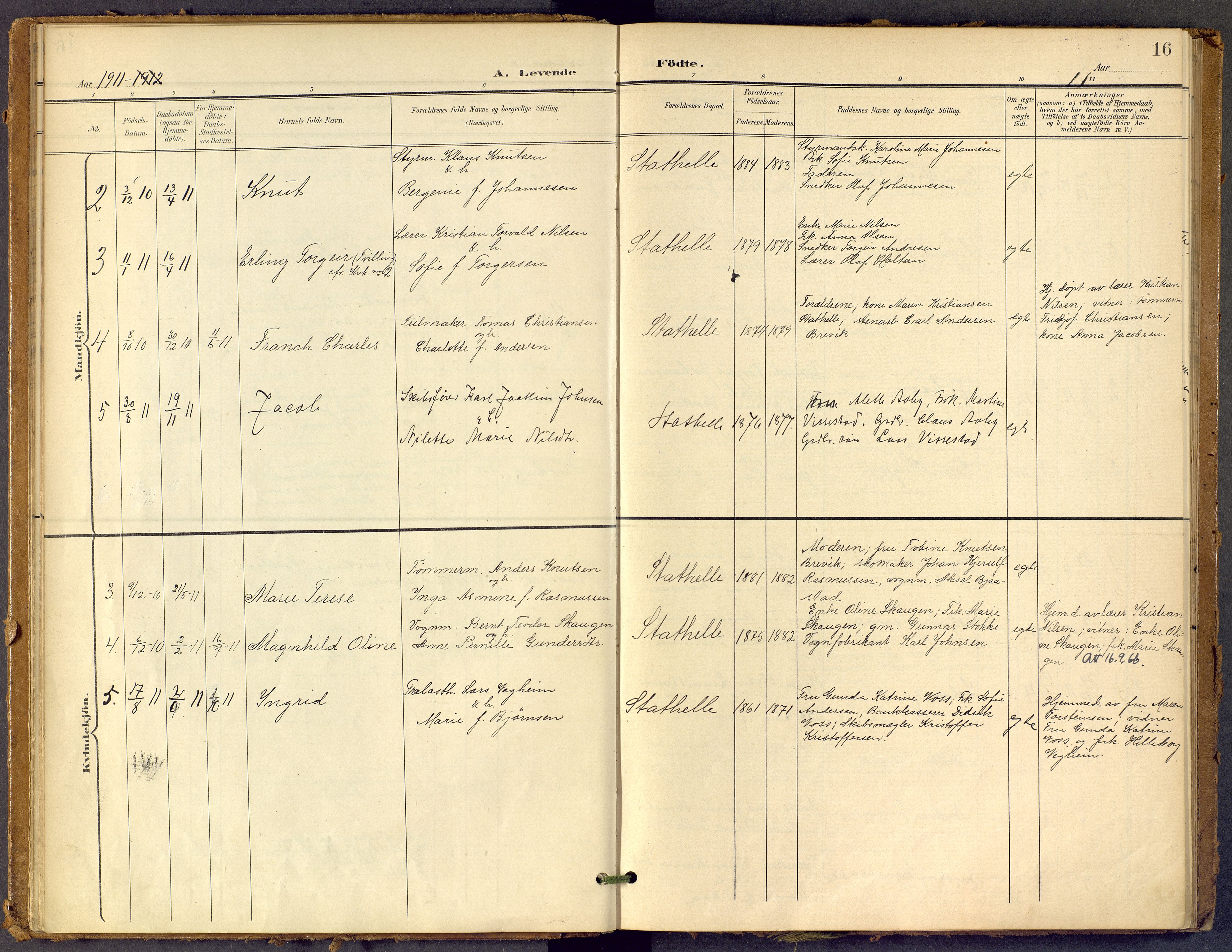 SAKO, Bamble kirkebøker, F/Fb/L0002: Ministerialbok nr. II 2, 1900-1921, s. 16