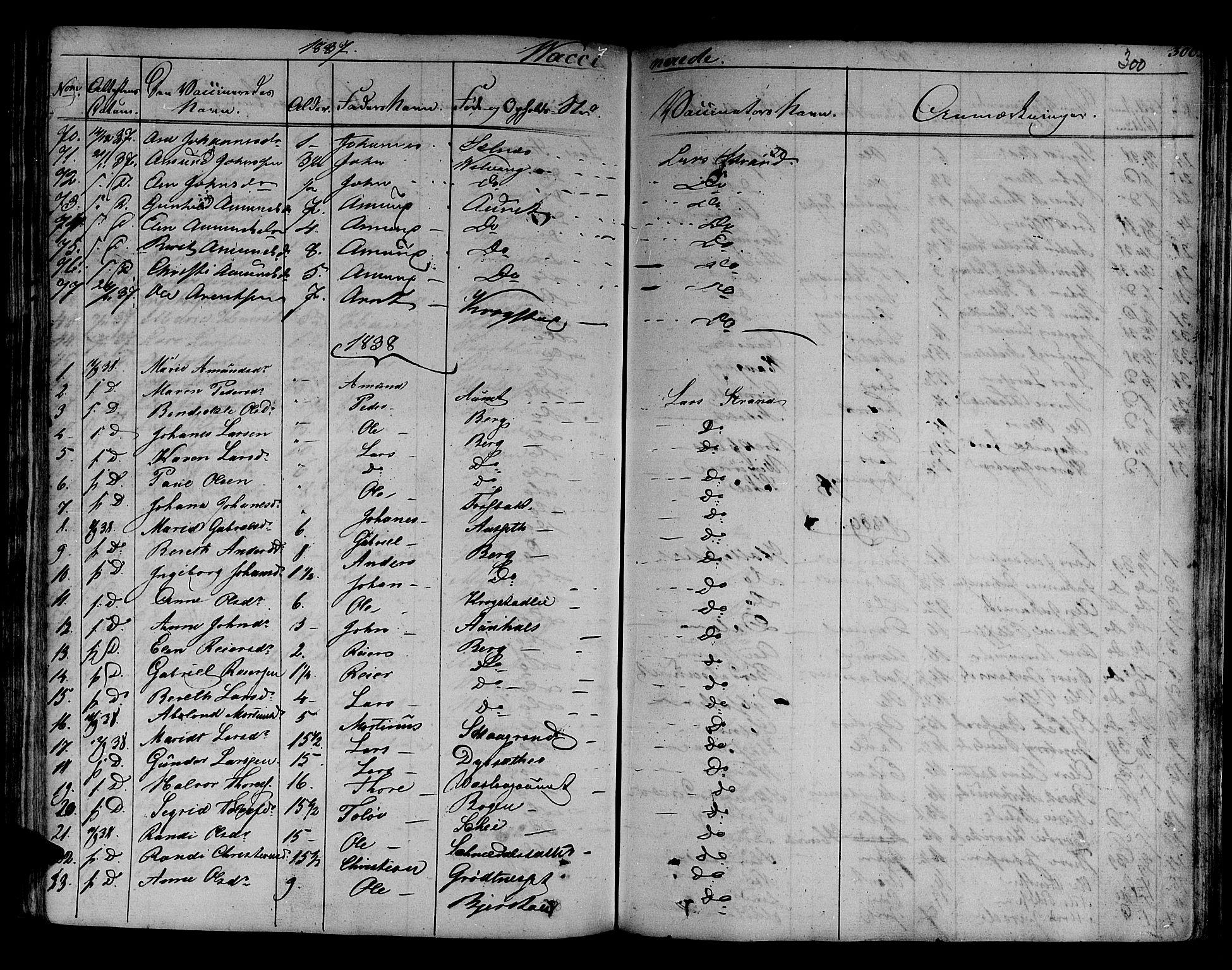 SAT, Ministerialprotokoller, klokkerbøker og fødselsregistre - Sør-Trøndelag, 630/L0492: Ministerialbok nr. 630A05, 1830-1840, s. 300